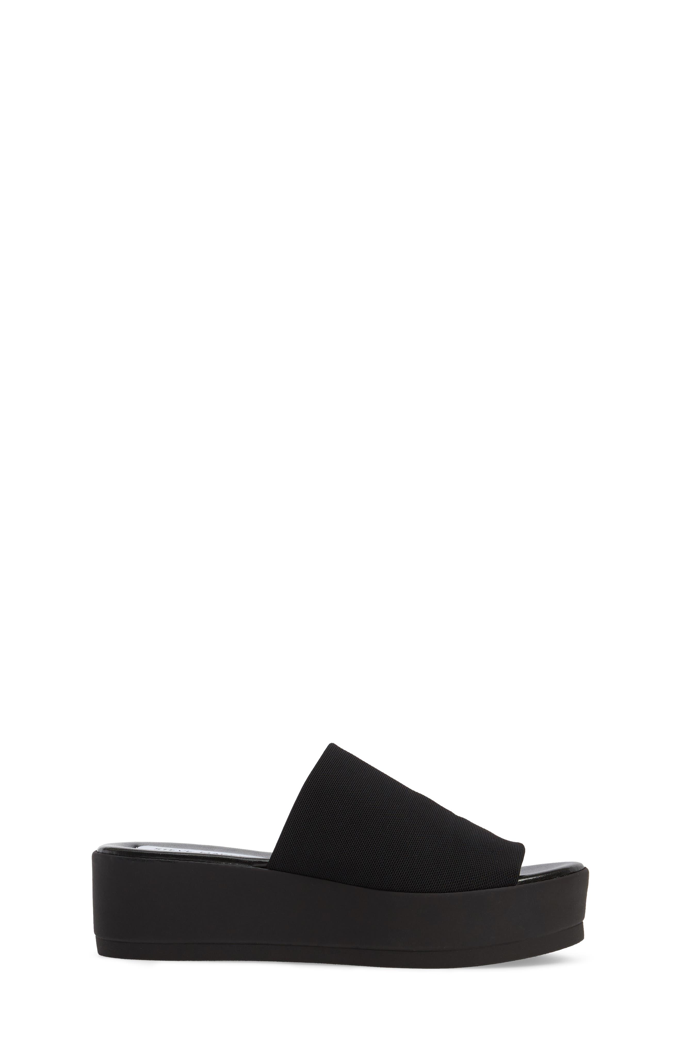 Jslinky Platform Slide Sandal,                             Alternate thumbnail 3, color,                             Black