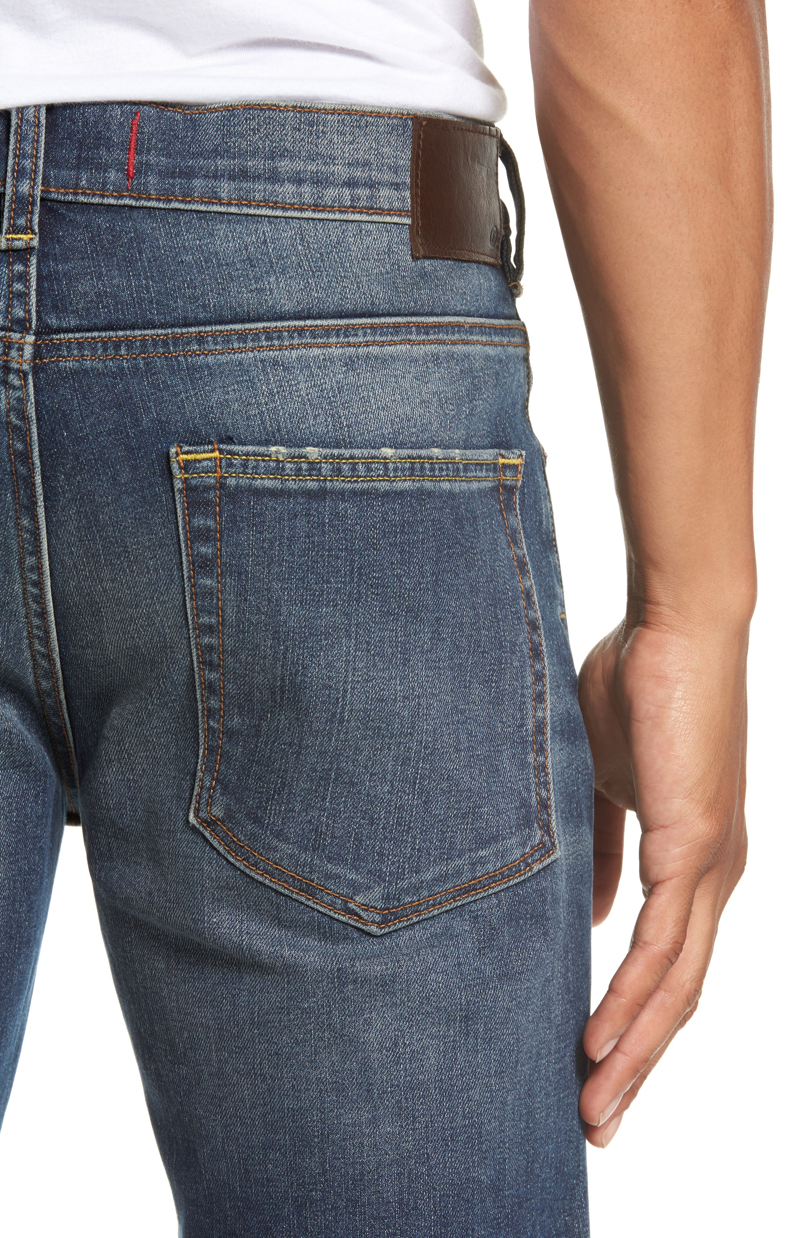 Alternate Image 4  - French Connection Slim Fit Distressed Jeans (Vintage & Holes)