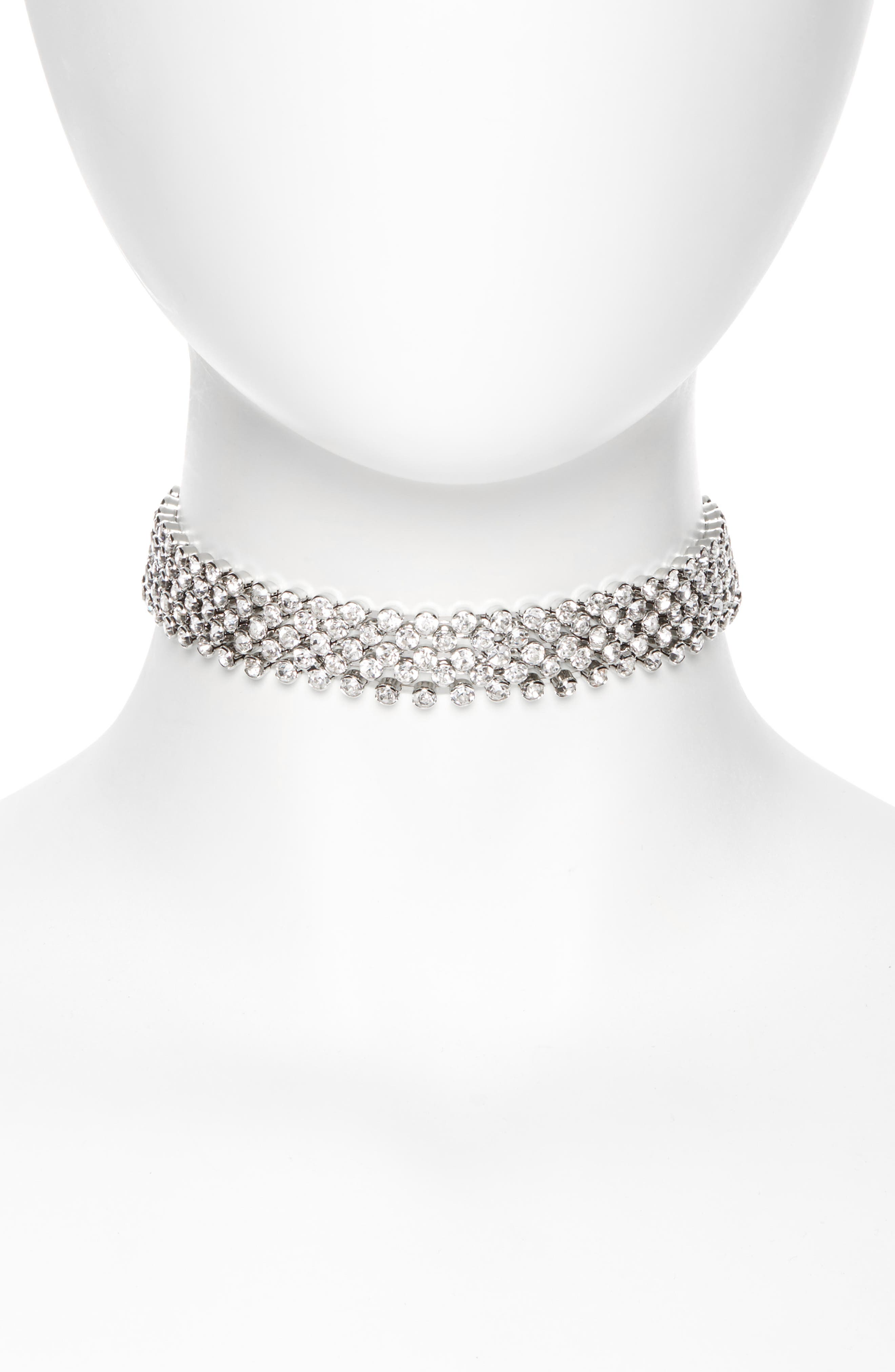 CRISTABELLE Nine Row Crystal Choker