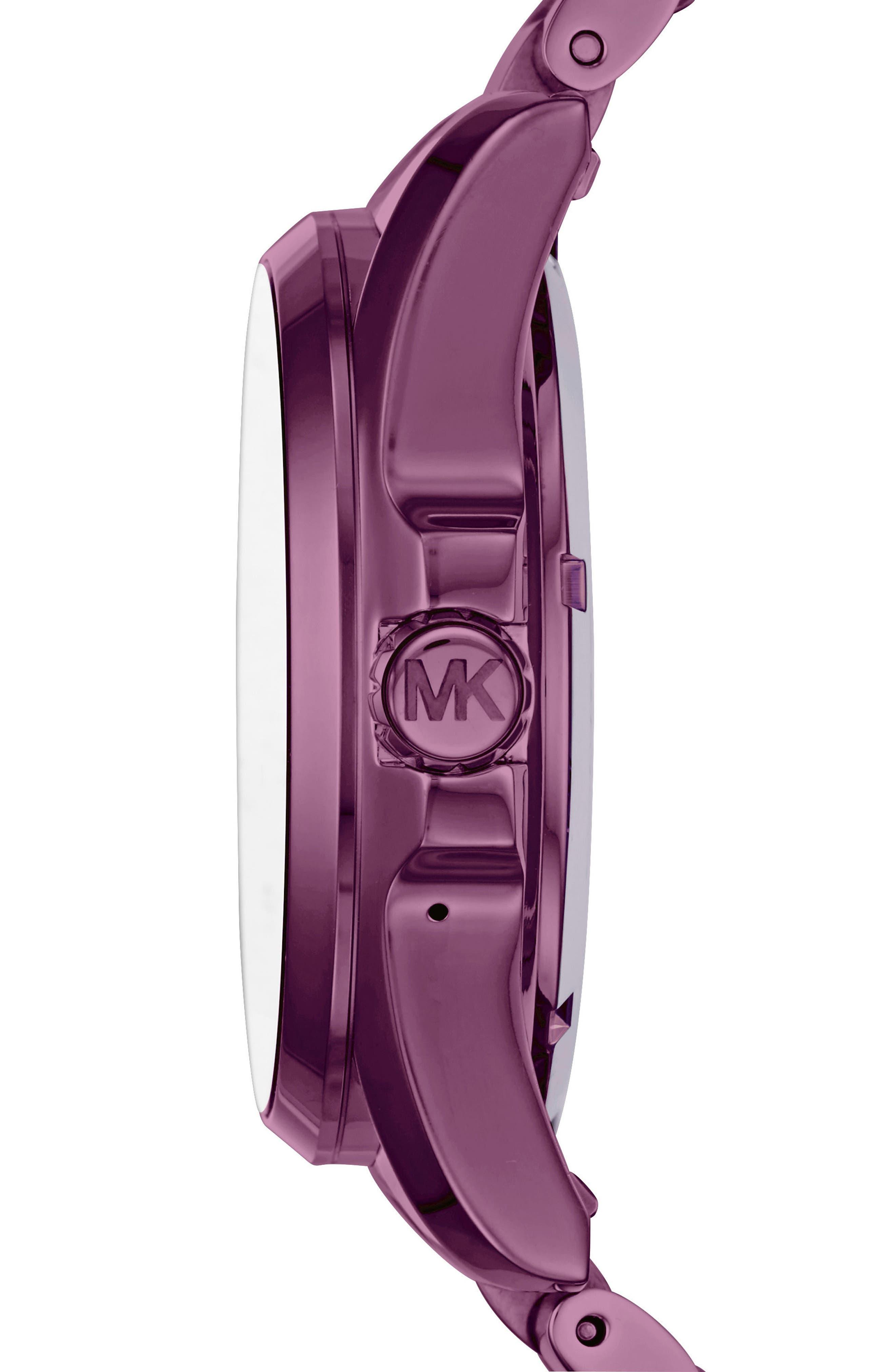 MICHAEL Michael Kors Bradshaw Access Bracelet Smart Watch, 45mm,                             Alternate thumbnail 2, color,                             Plum