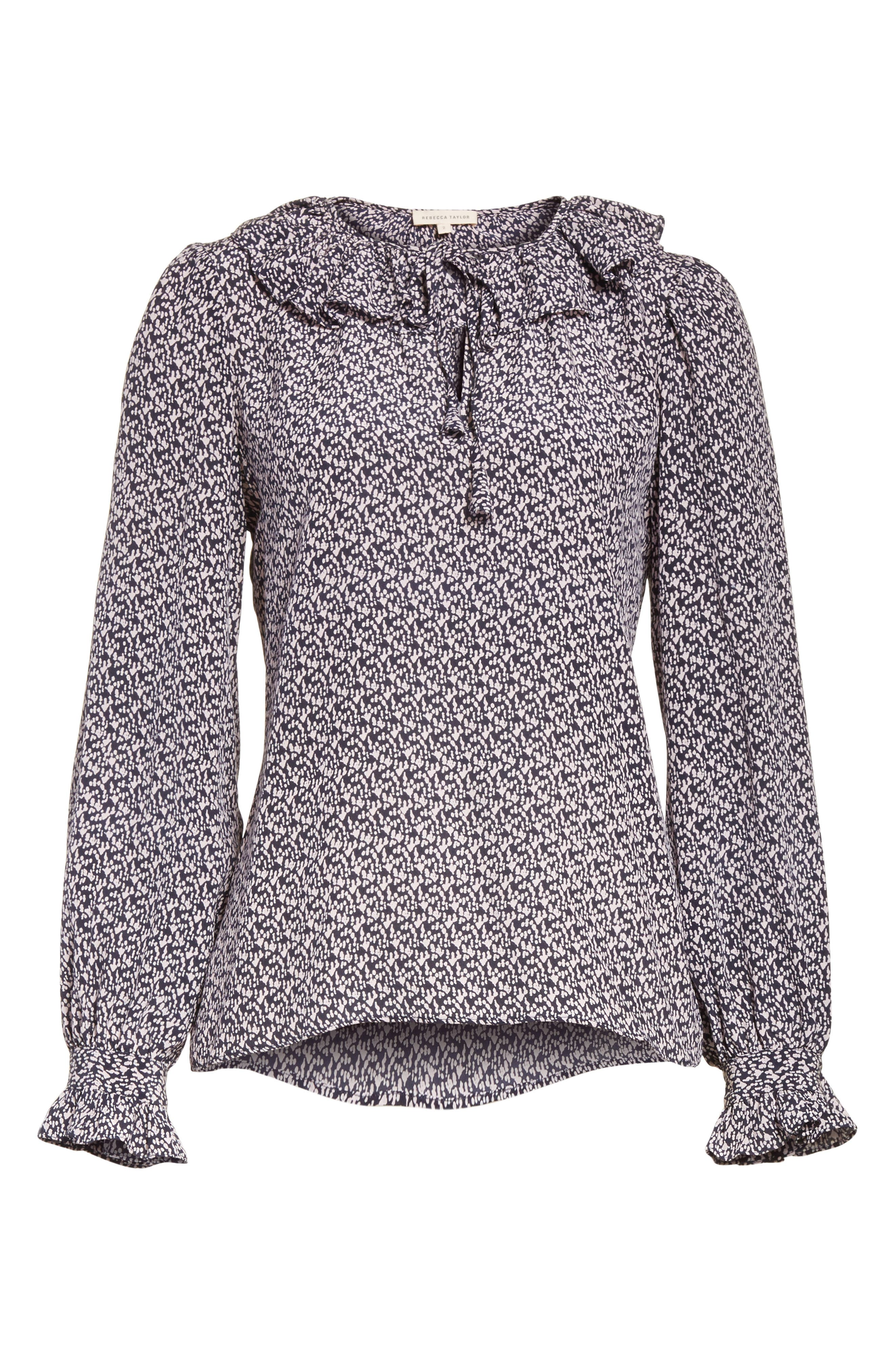 Alternate Image 6  - Rebecca Taylor Static Print Blouse