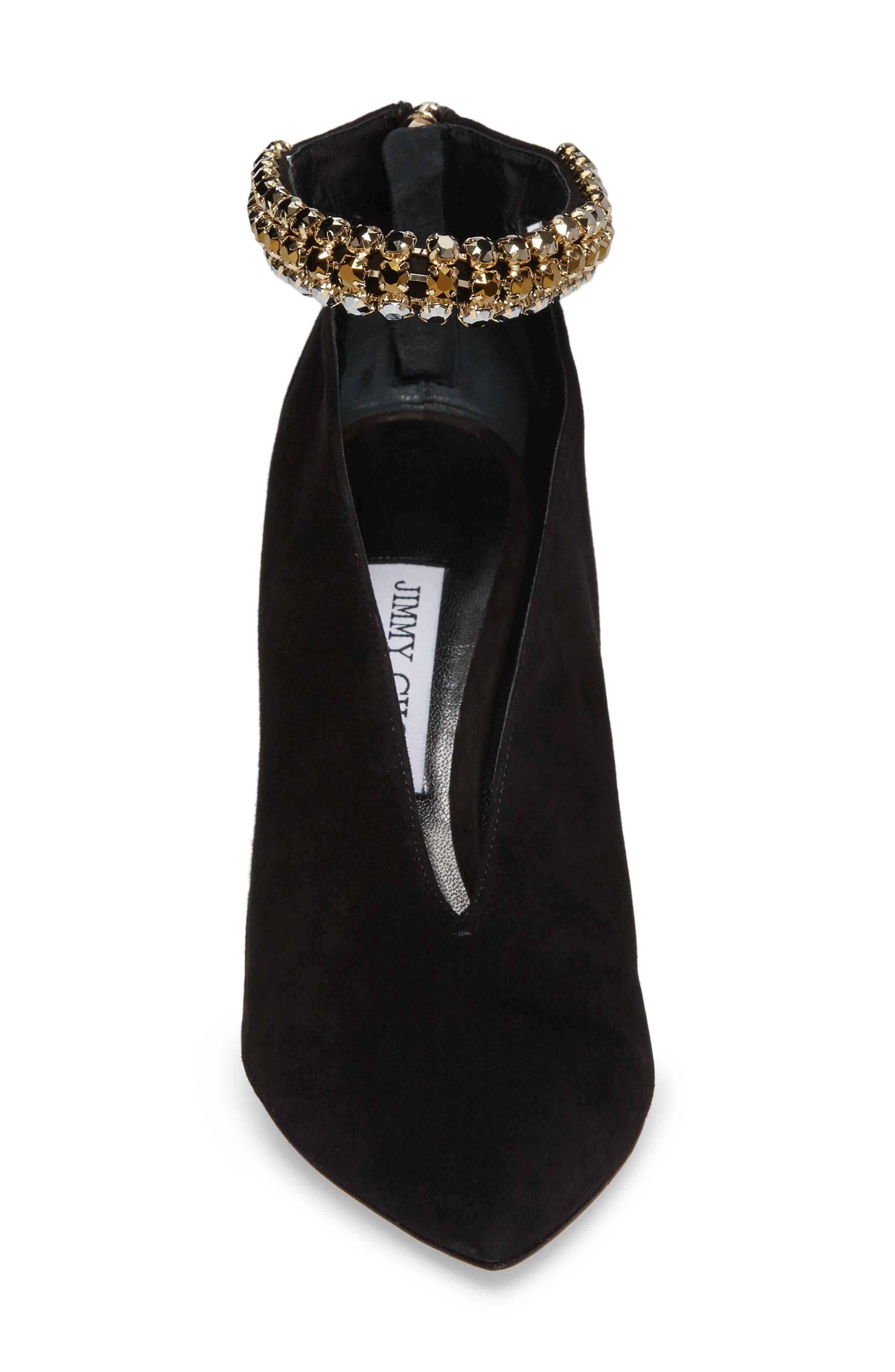 Alternate Image 4  - Jimmy Choo Lux Embellished Ankle Strap Bootie (Women)