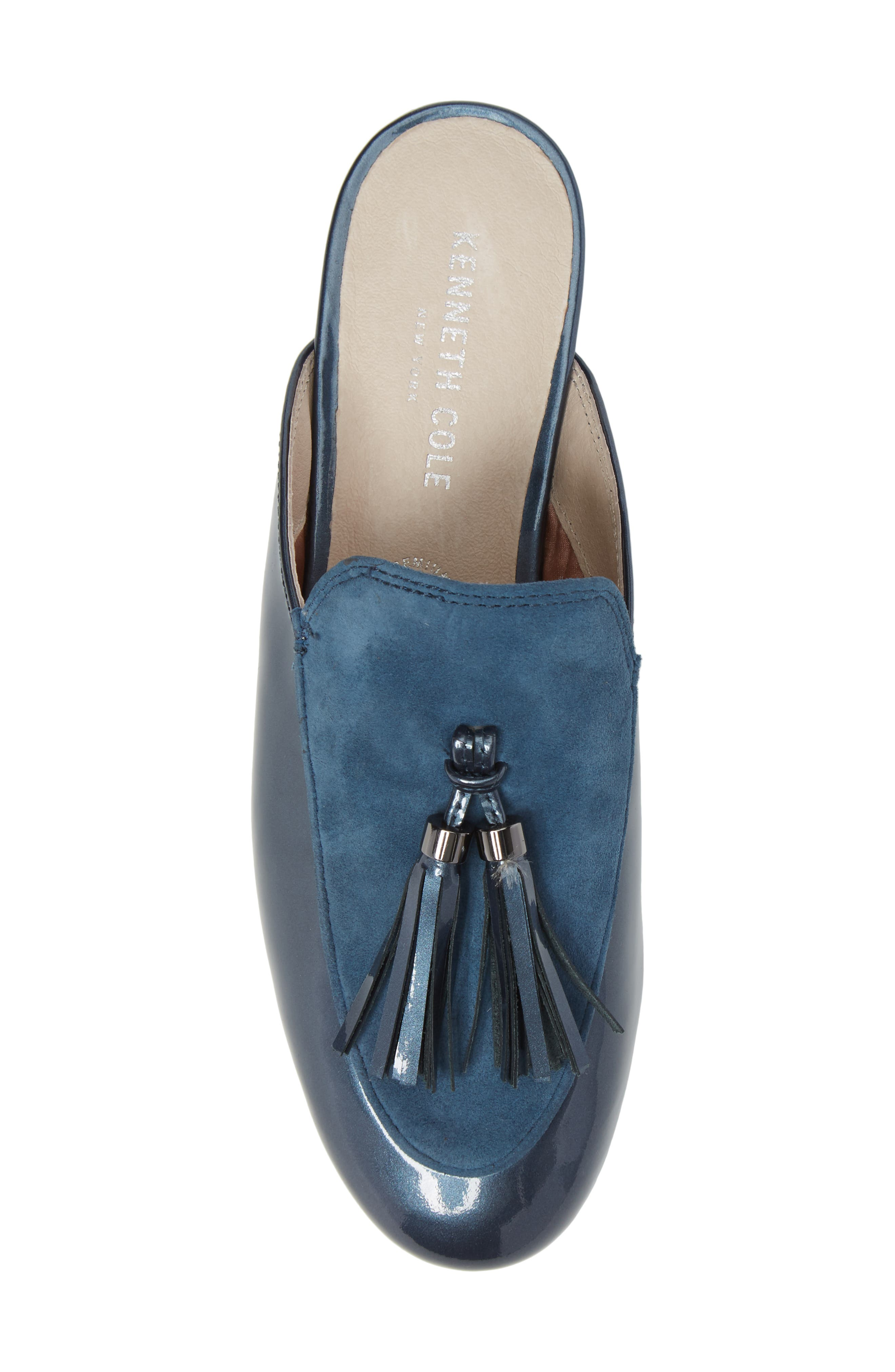 Whinnie Loafer Mule,                             Alternate thumbnail 5, color,                             Indigo Patent Leather