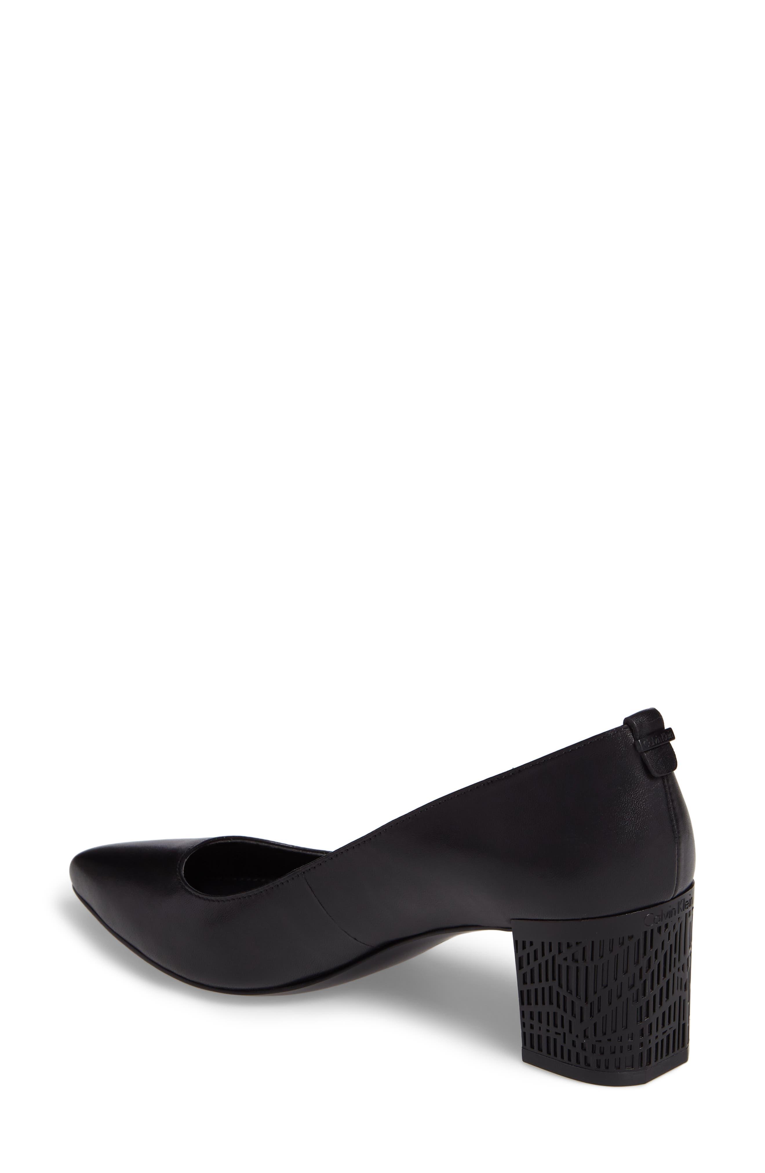 Natalynn 2 Texture Heel Pump,                             Alternate thumbnail 2, color,                             Black