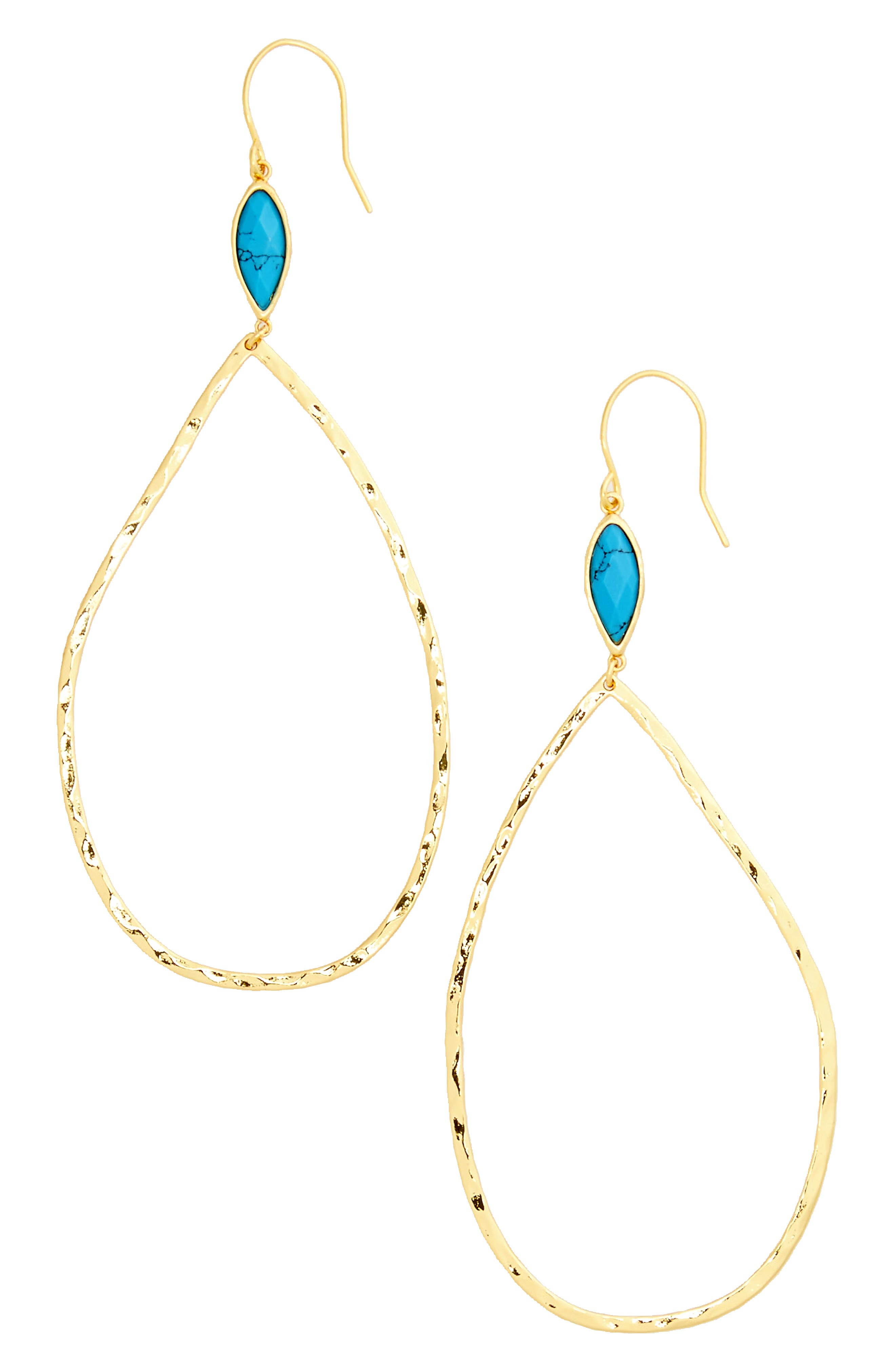 Alternate Image 2  - gorjana Lola Semiprecious Stone Drop Earrings