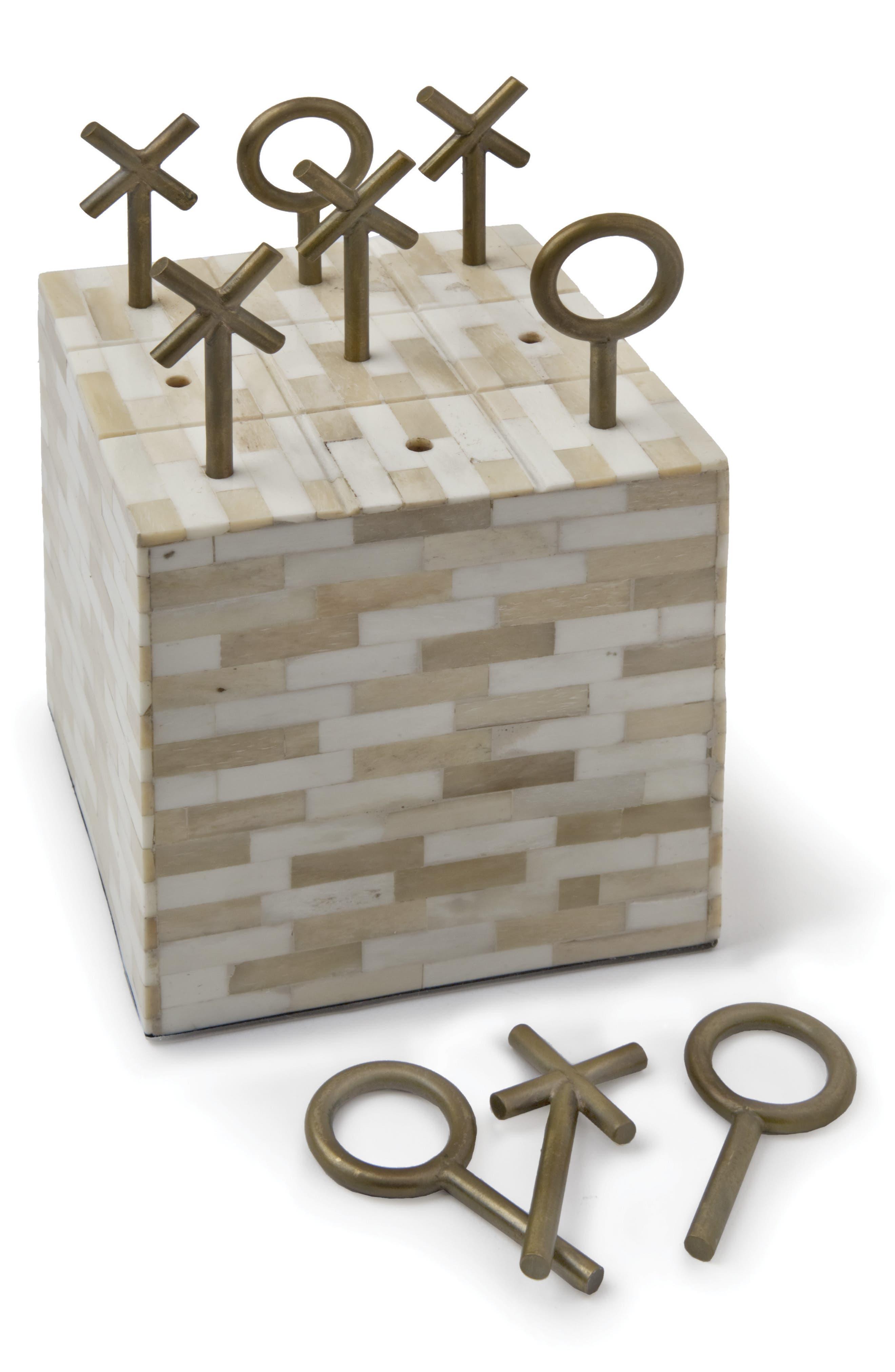 Tic Tac Toe Block Game,                         Main,                         color, Bone Multi Color