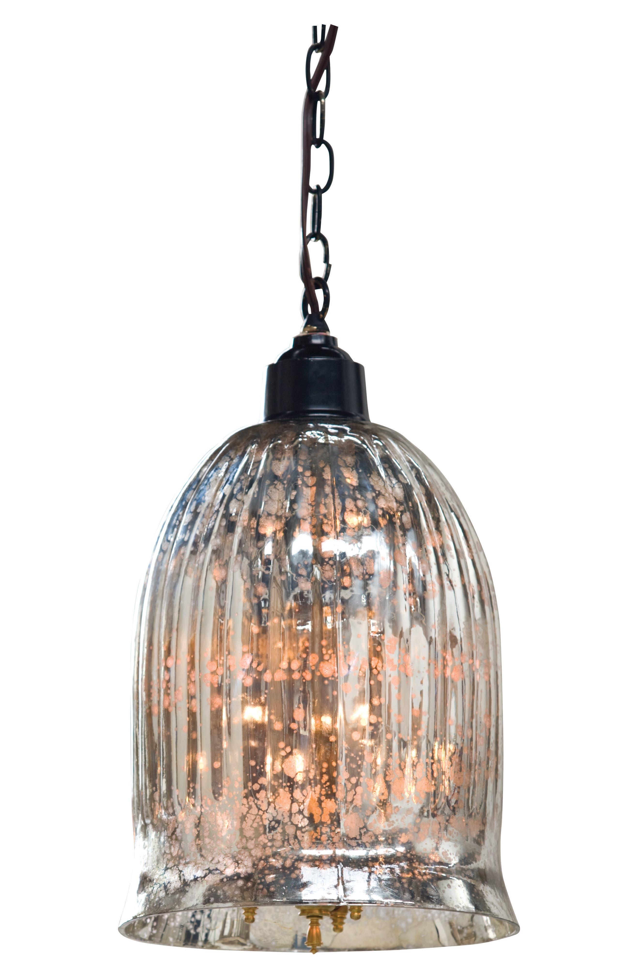 Antiqued Mercury Pendant Lamp,                         Main,                         color, Silver