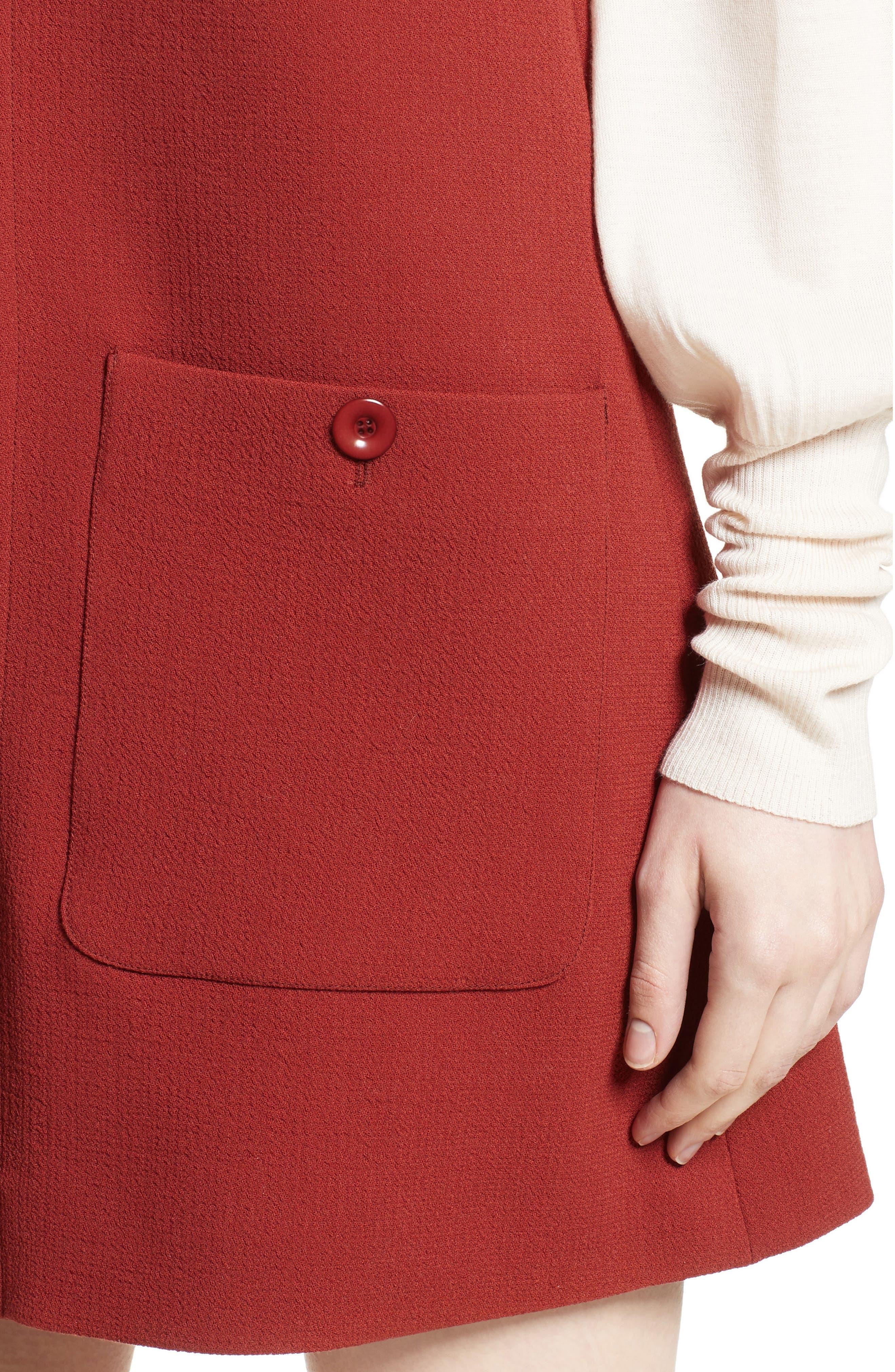 Alternate Image 5  - Chloé Wool Crepe Jumper Dress