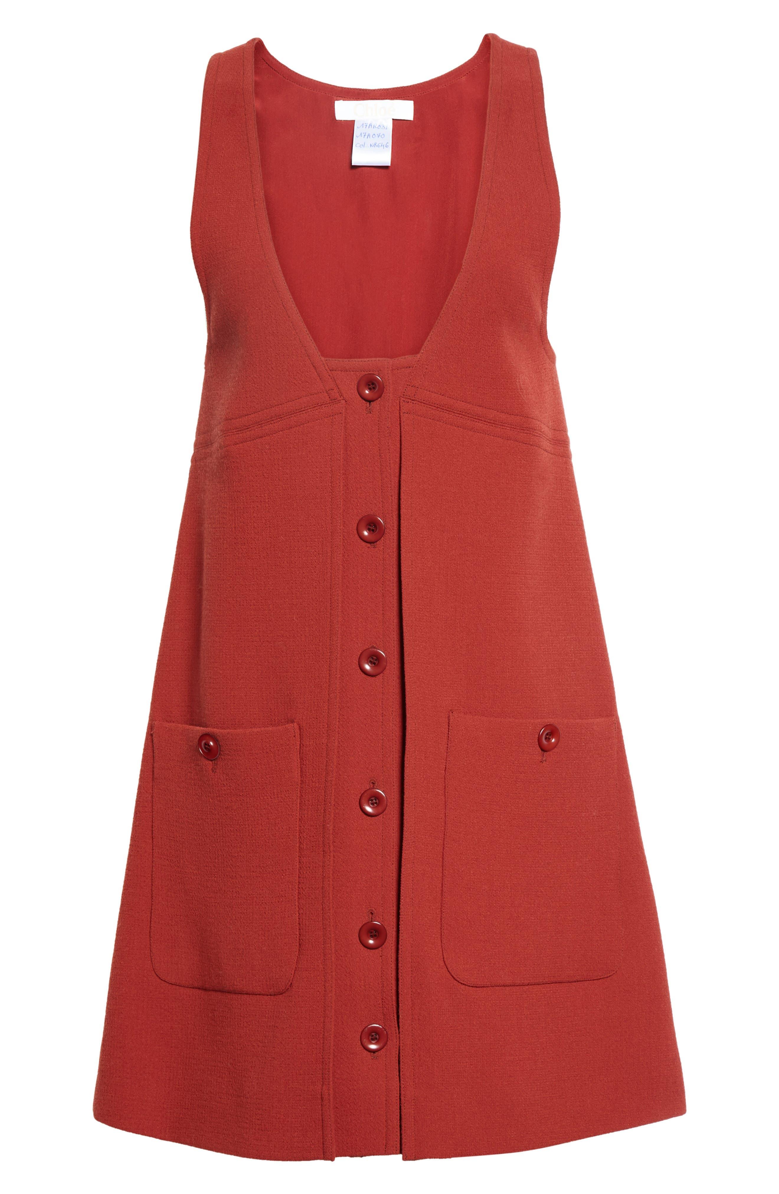 Alternate Image 3  - Chloé Wool Crepe Jumper Dress
