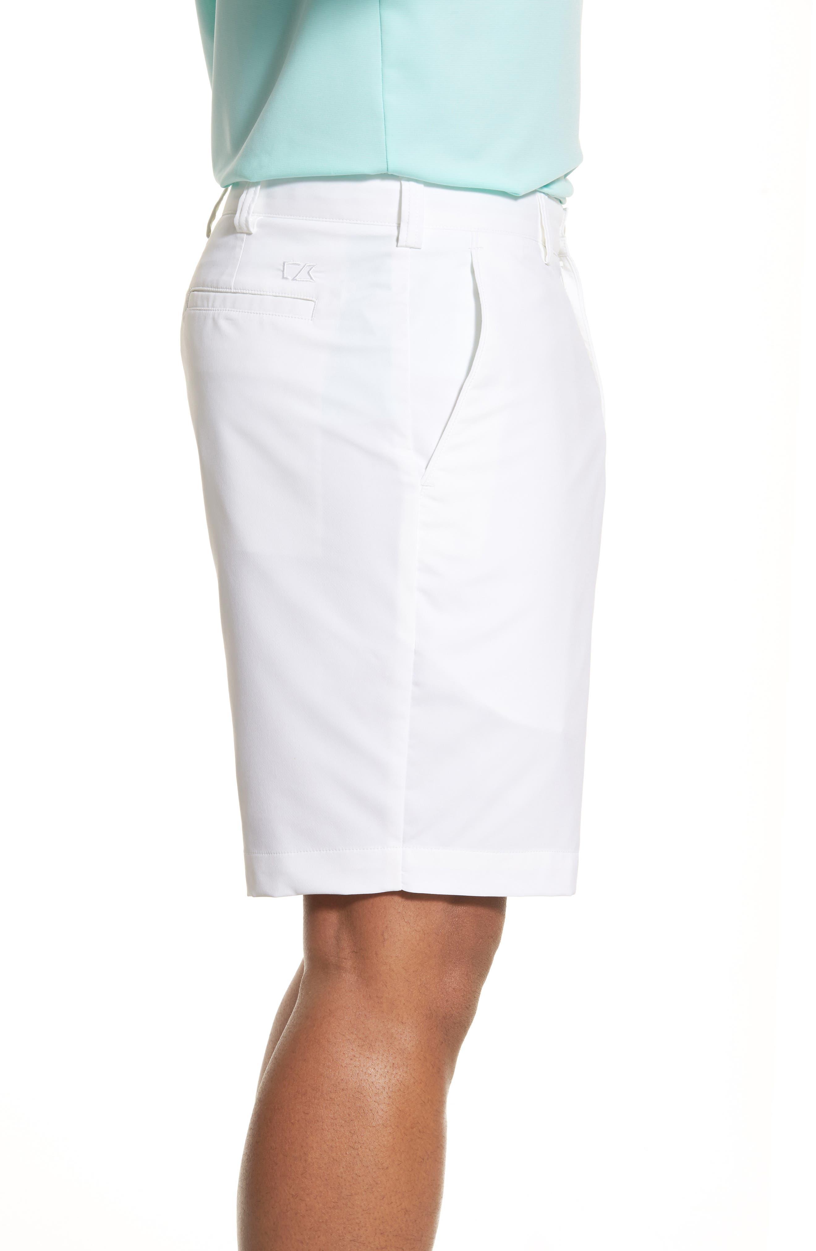 Bainbridge DryTec Flat Front Shorts,                             Alternate thumbnail 5, color,                             White