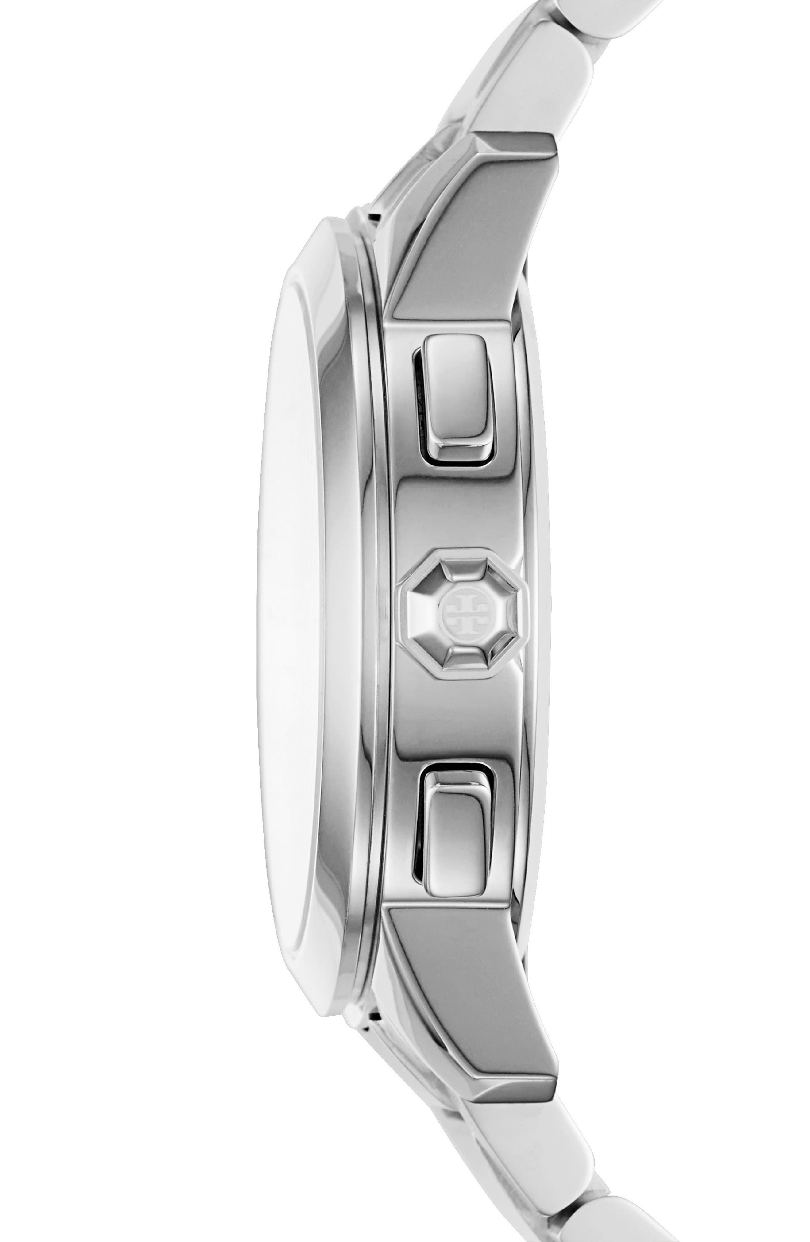 Collins Chronograph Bracelet Watch, 38mm,                             Alternate thumbnail 2, color,                             Silver/ Ivory/ Silver