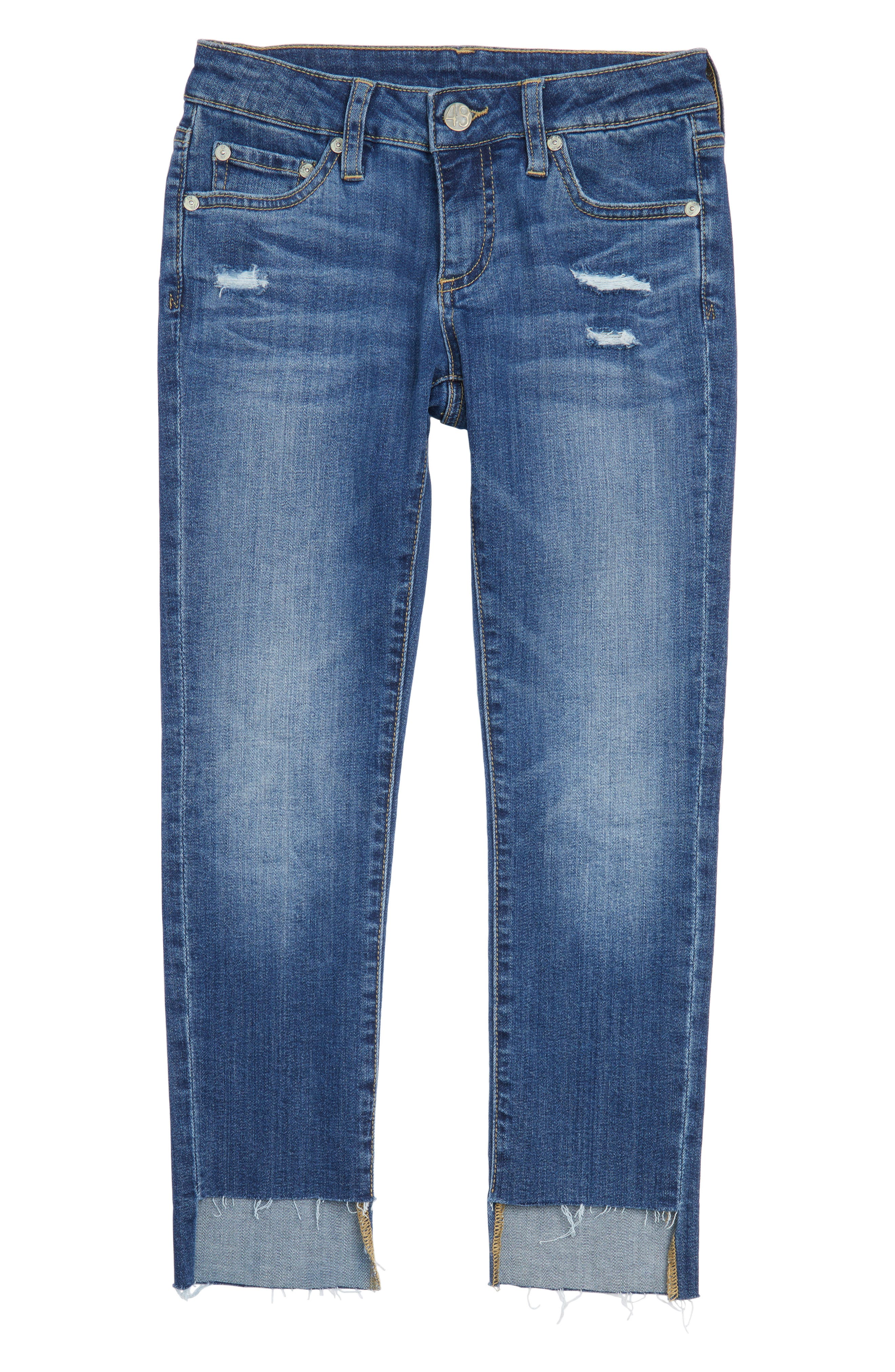 Alternate Image 1 Selected - ag adriano goldschmied kids The Kate Slim Straight Leg Jeans (Big Girls)