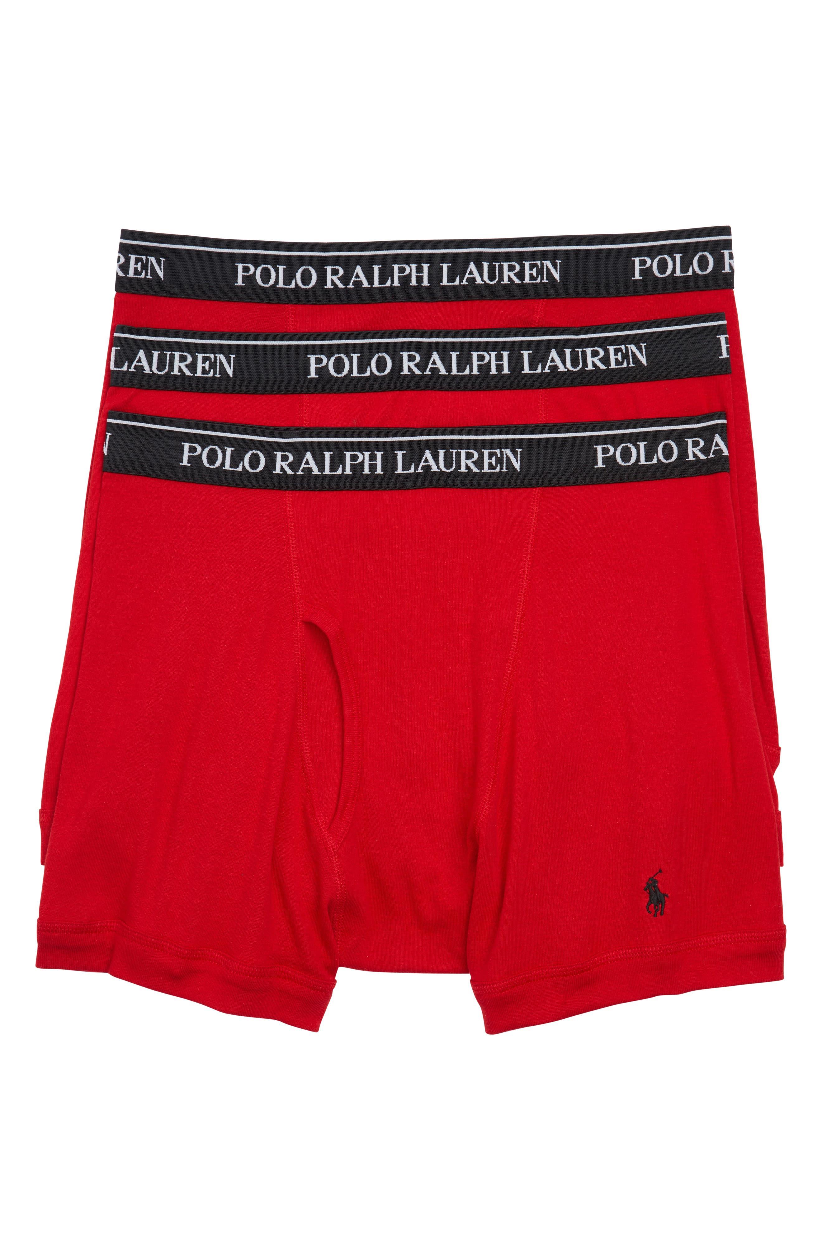 Polo Ralph Lauren 3-Pack Cotton Boxer Briefs