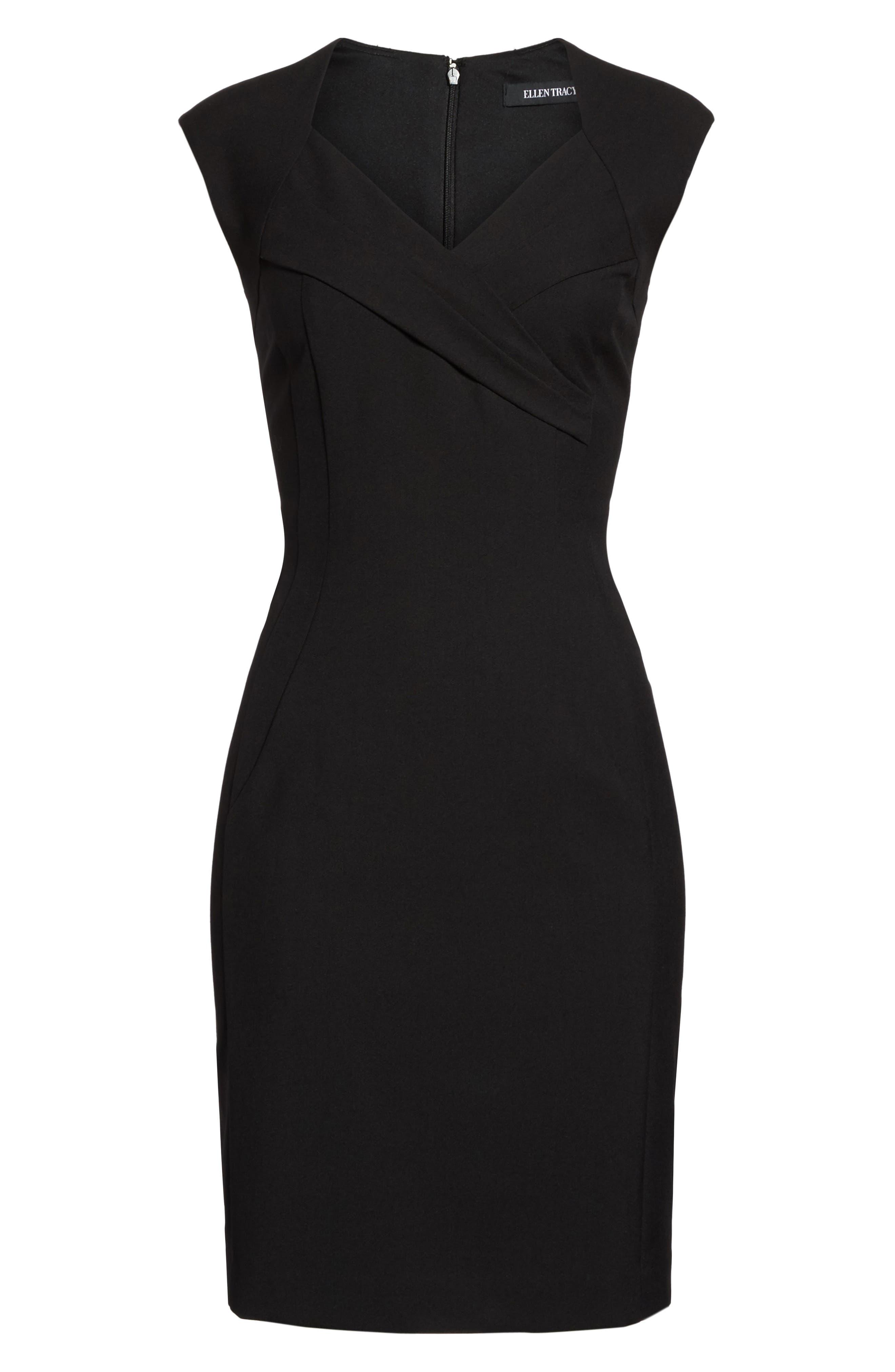 Sheath Dress,                             Alternate thumbnail 6, color,                             Black