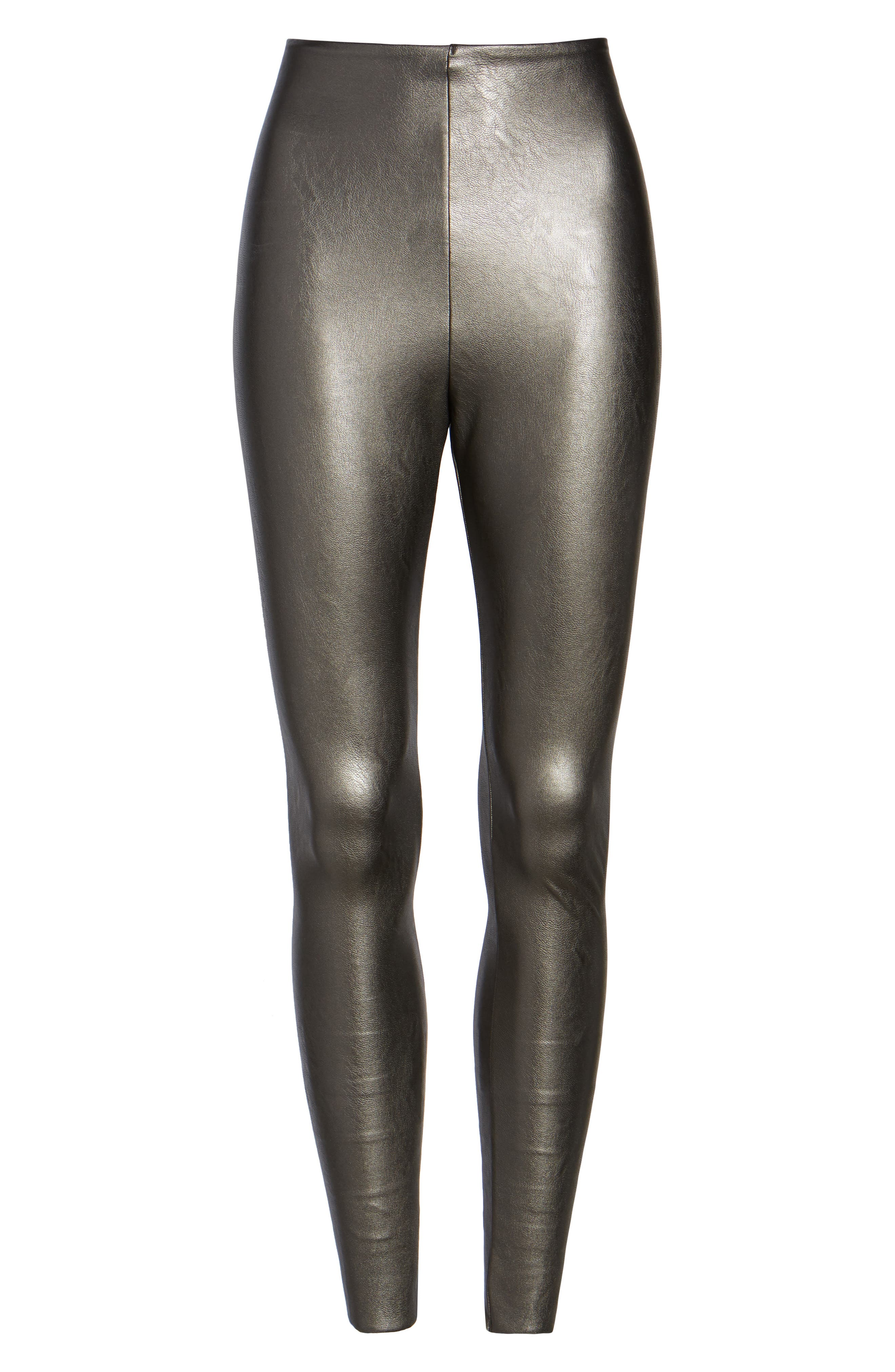 Alternate Image 4  - Commando Control Top Faux Leather Leggings