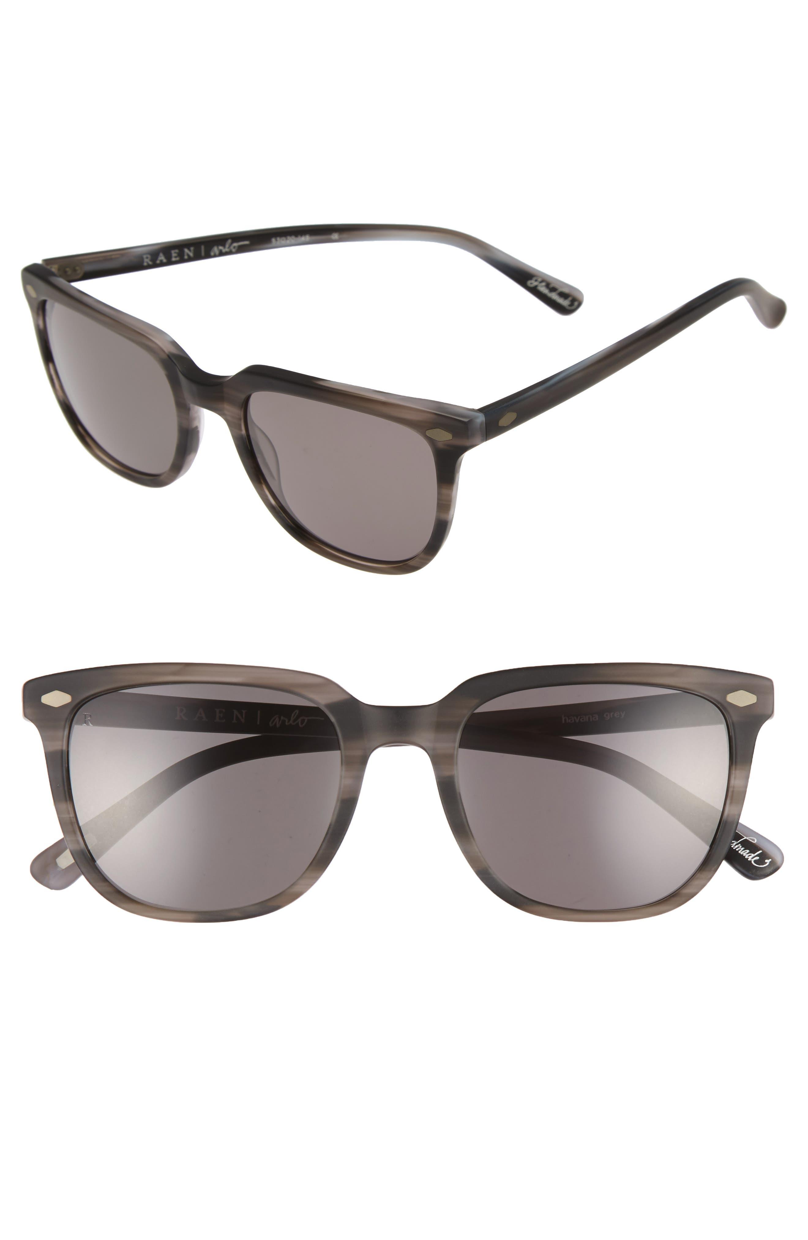 Arlo 53mm Sunglasses,                         Main,                         color, Havana Grey