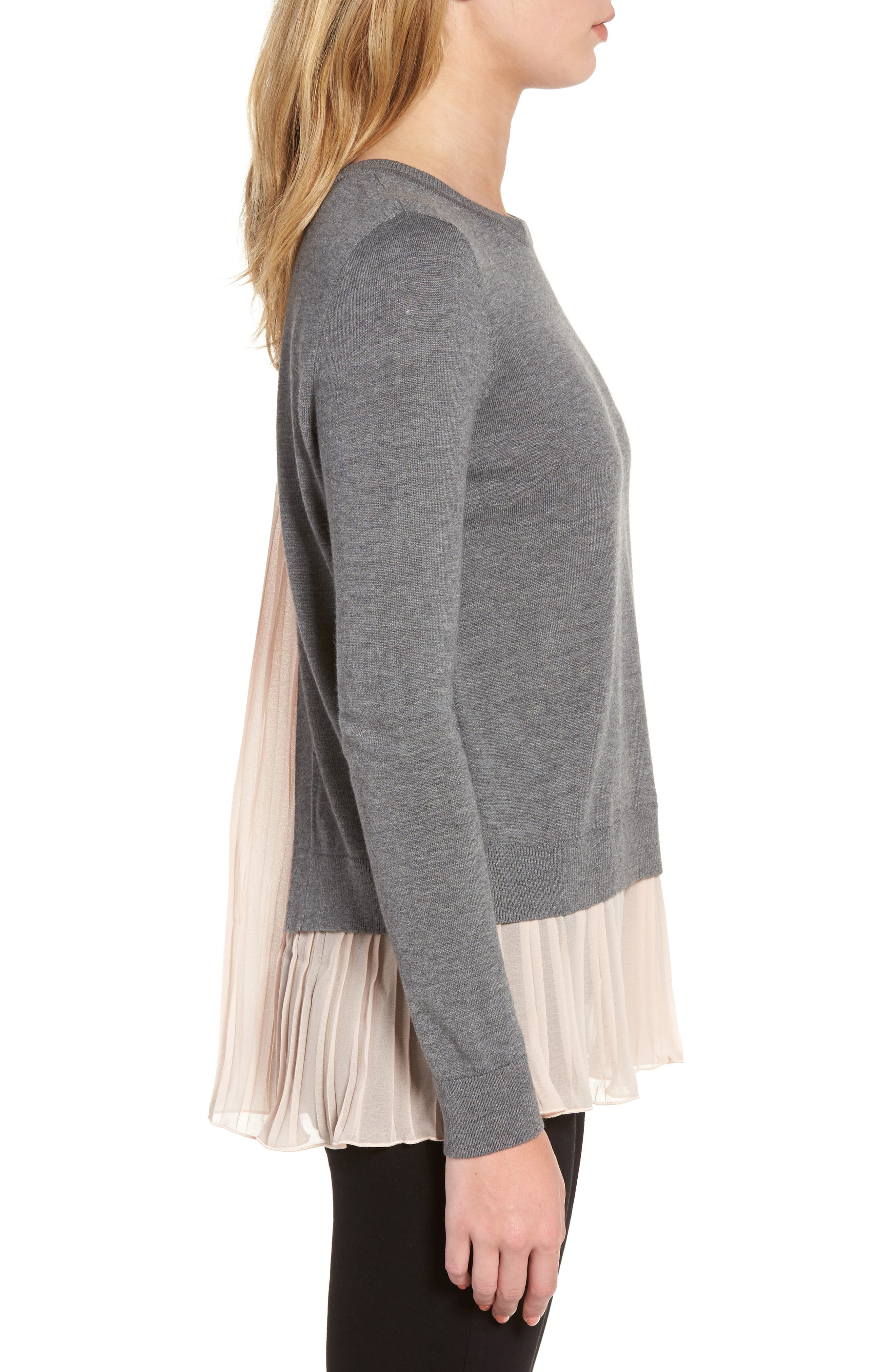 Alternate Image 3  - Chelsea28 Pleated Hem Sweater