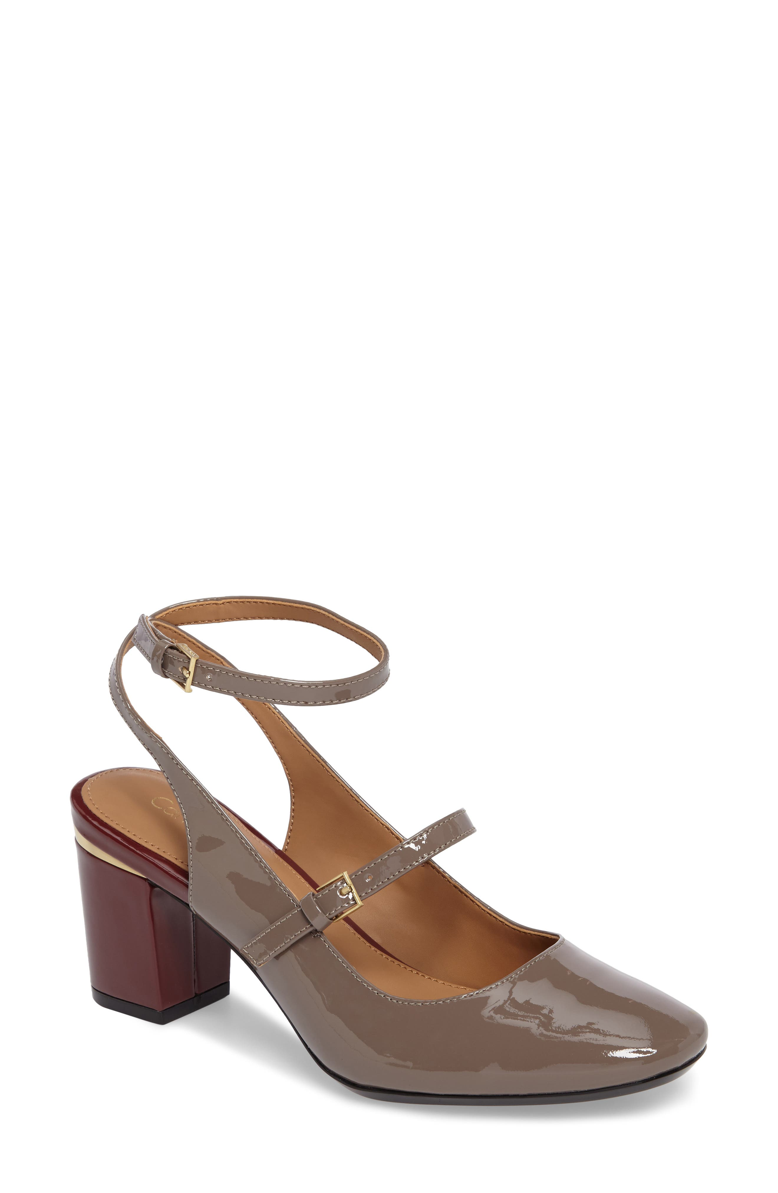 Cleary Wraparound Mary Jane Pump,                             Main thumbnail 1, color,                             Winter Taupe