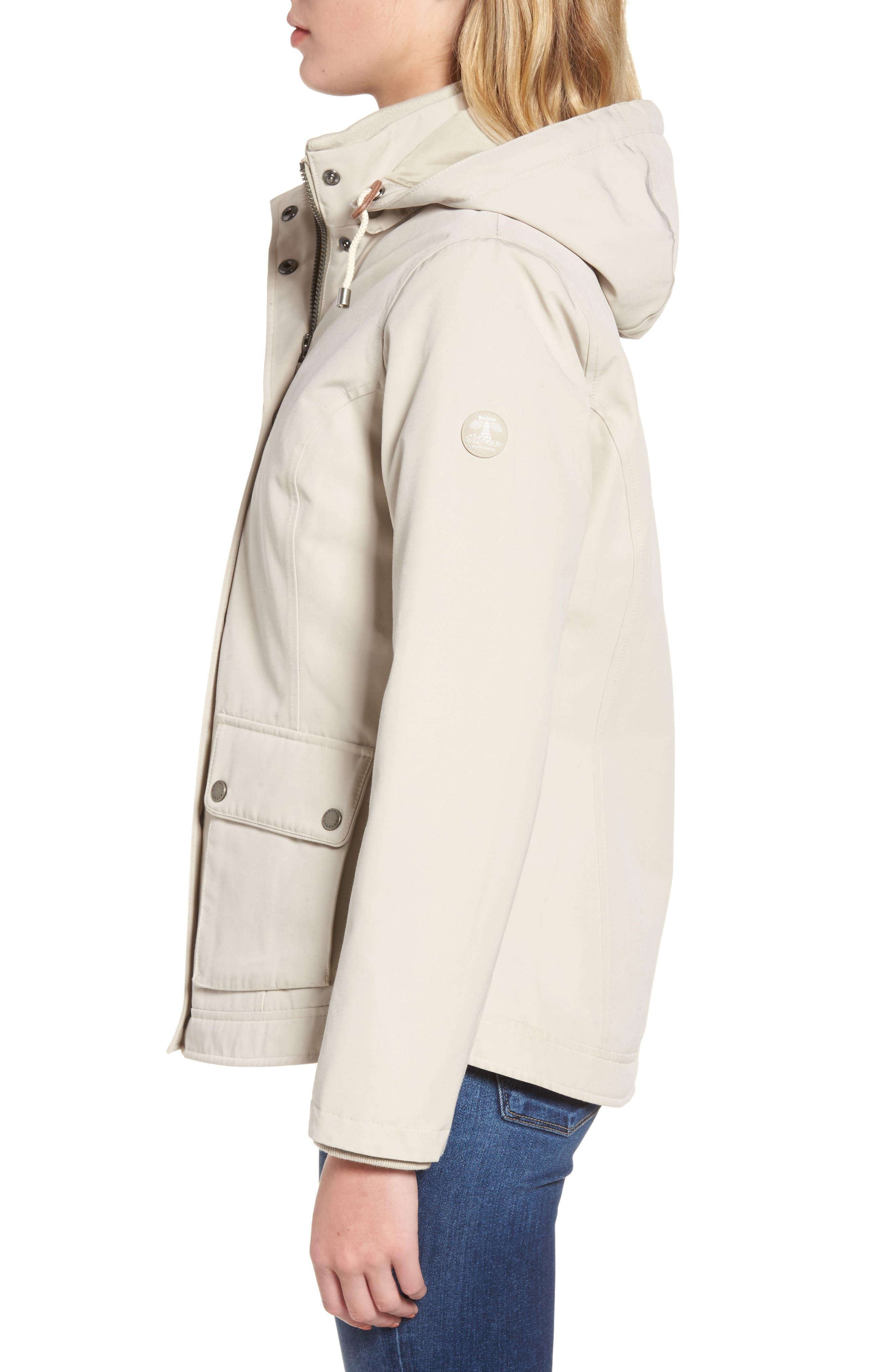 Seaton Hooded Waterproof Jacket,                             Alternate thumbnail 4, color,                             Mist