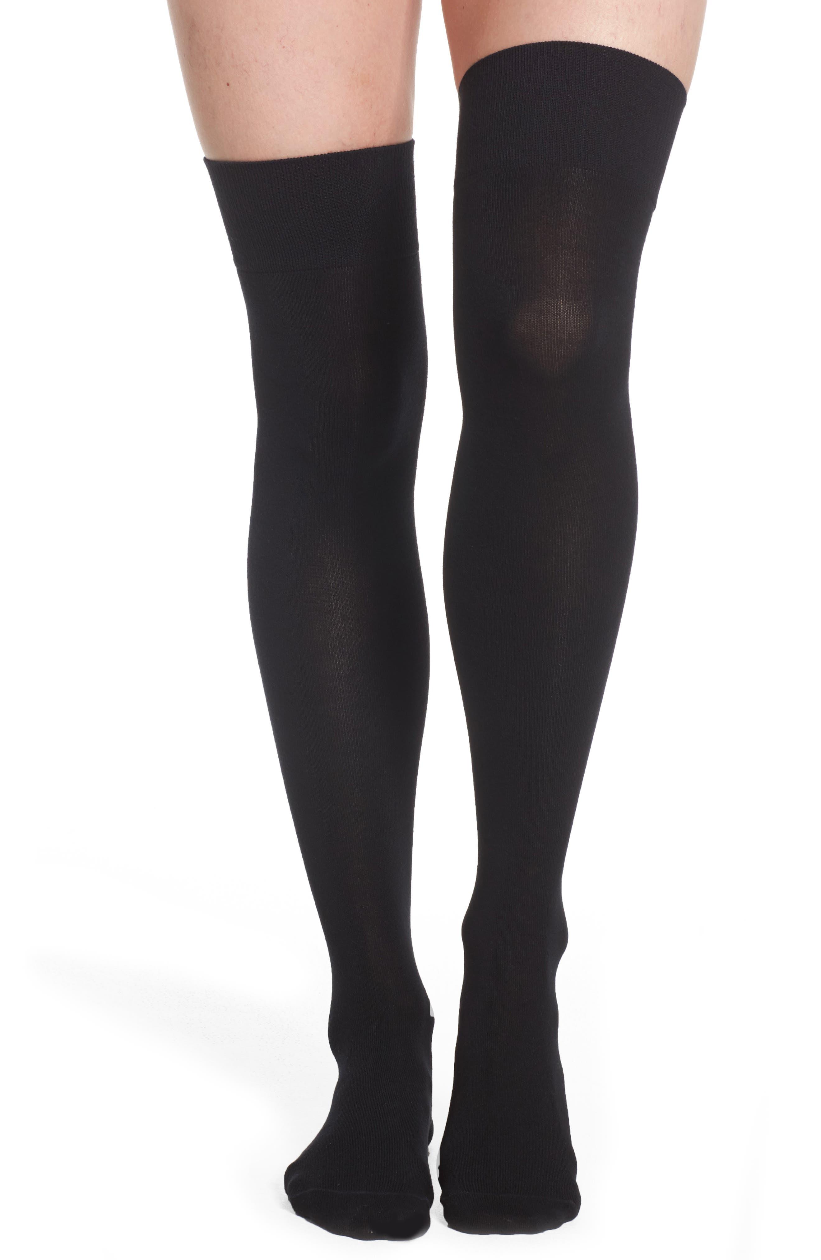 Over the Knee Socks,                         Main,                         color, Black