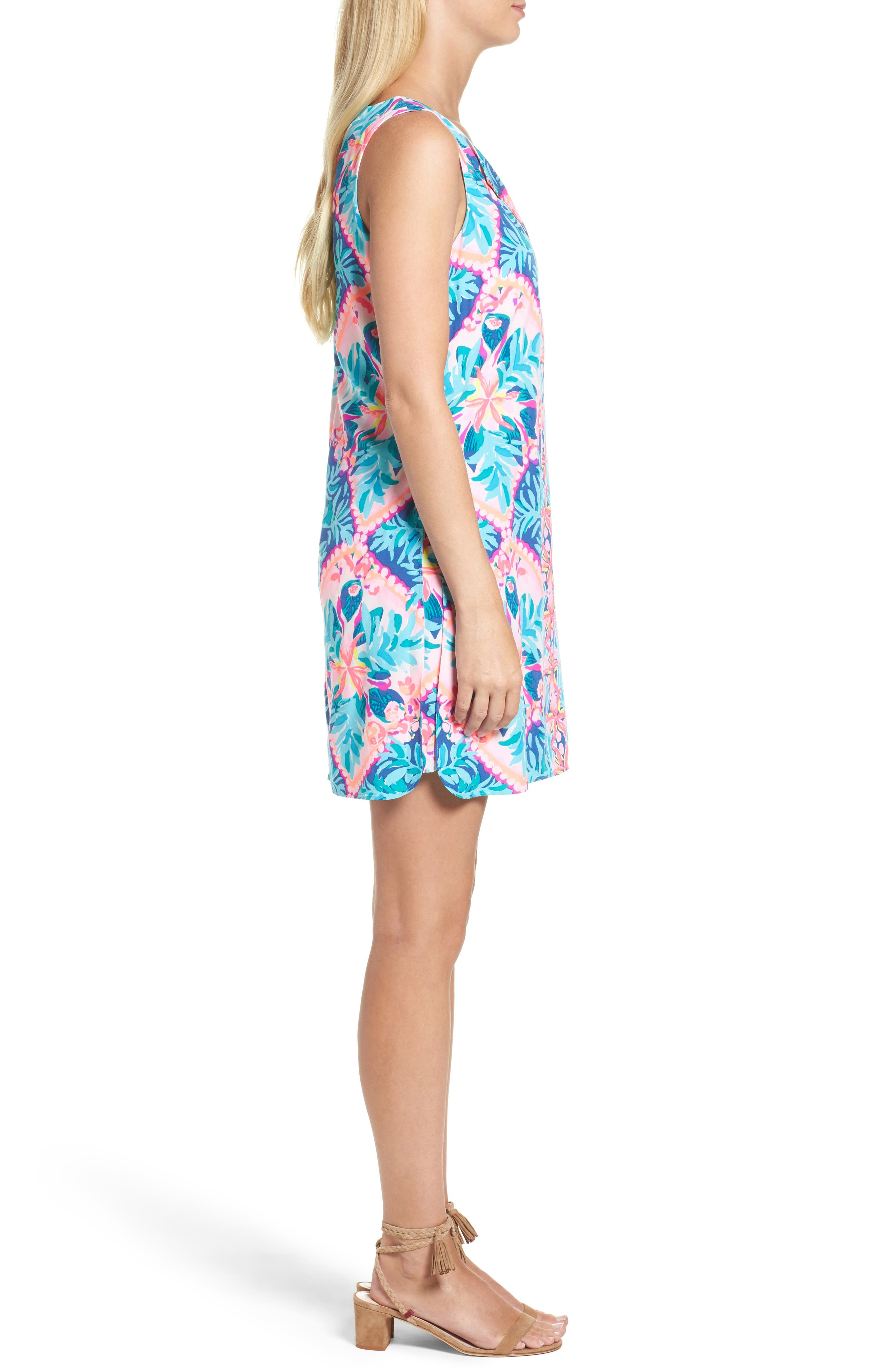 Tanya Skirted Romper,                             Alternate thumbnail 3, color,                             Seaside Aqua