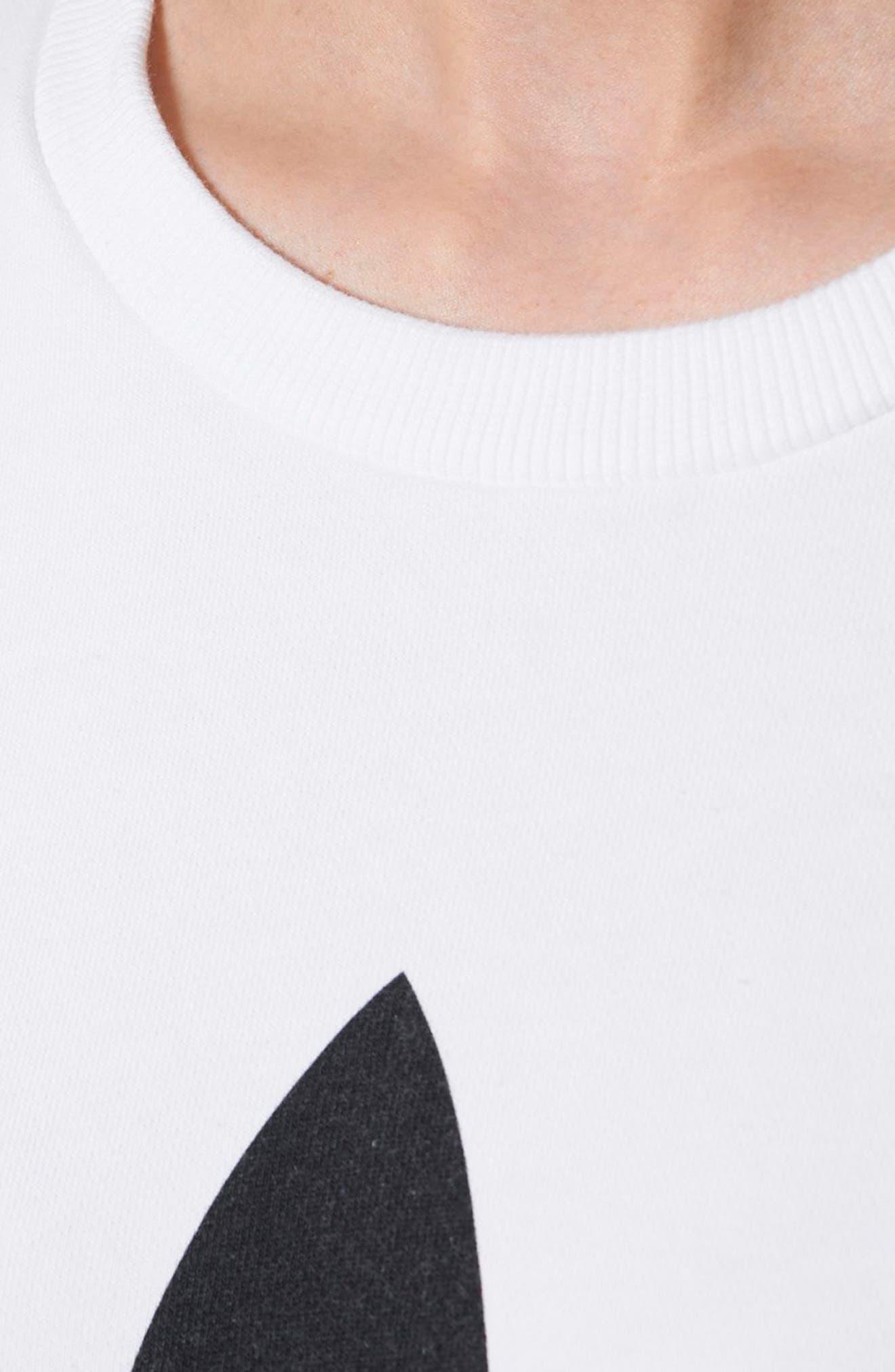 Alternate Image 6  - adidas Originals Trefoil Crewneck Sweatshirt