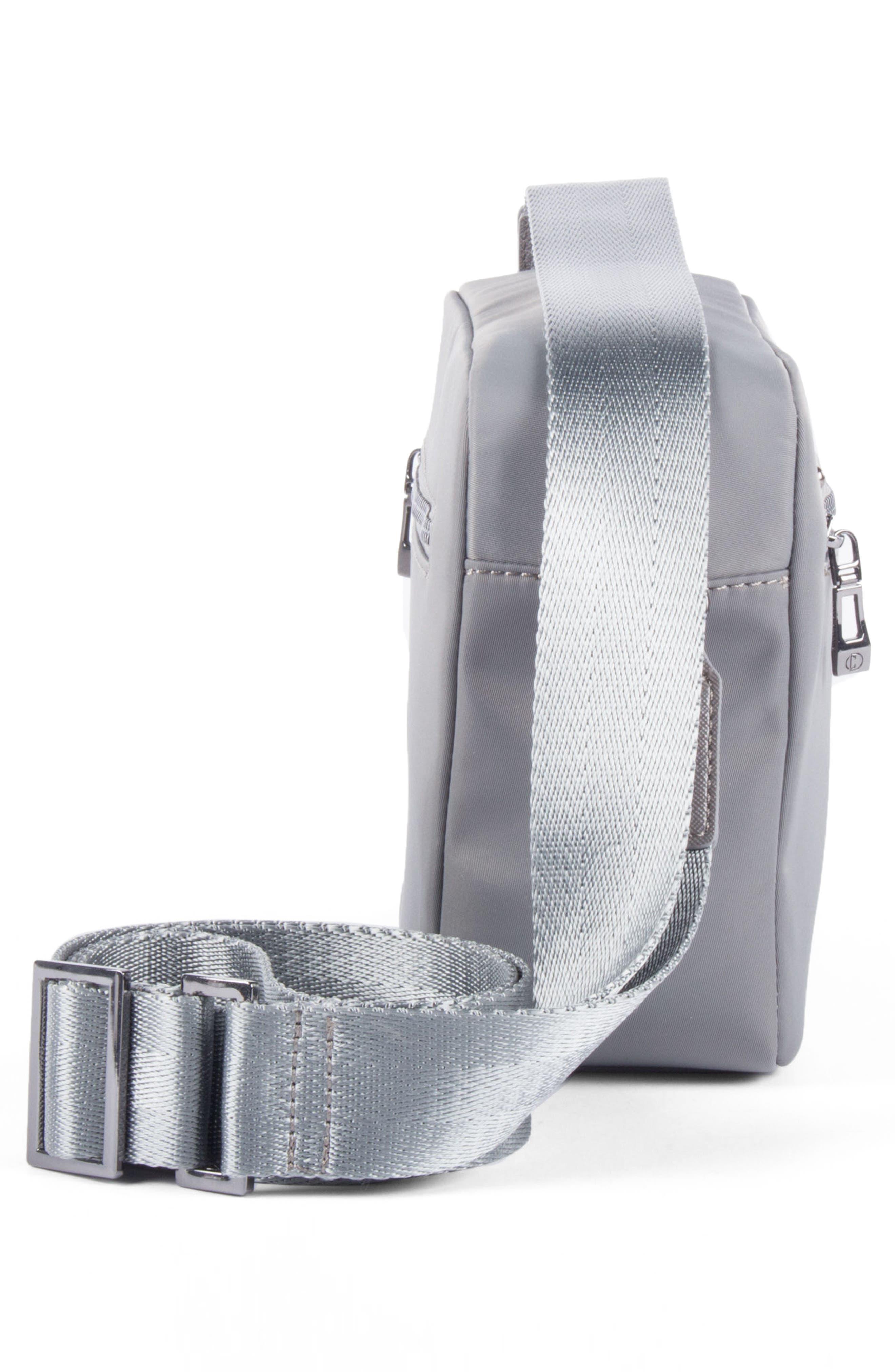 Céline Dion Presto Nylon Crossbody Bag,                             Alternate thumbnail 4, color,                             Grey