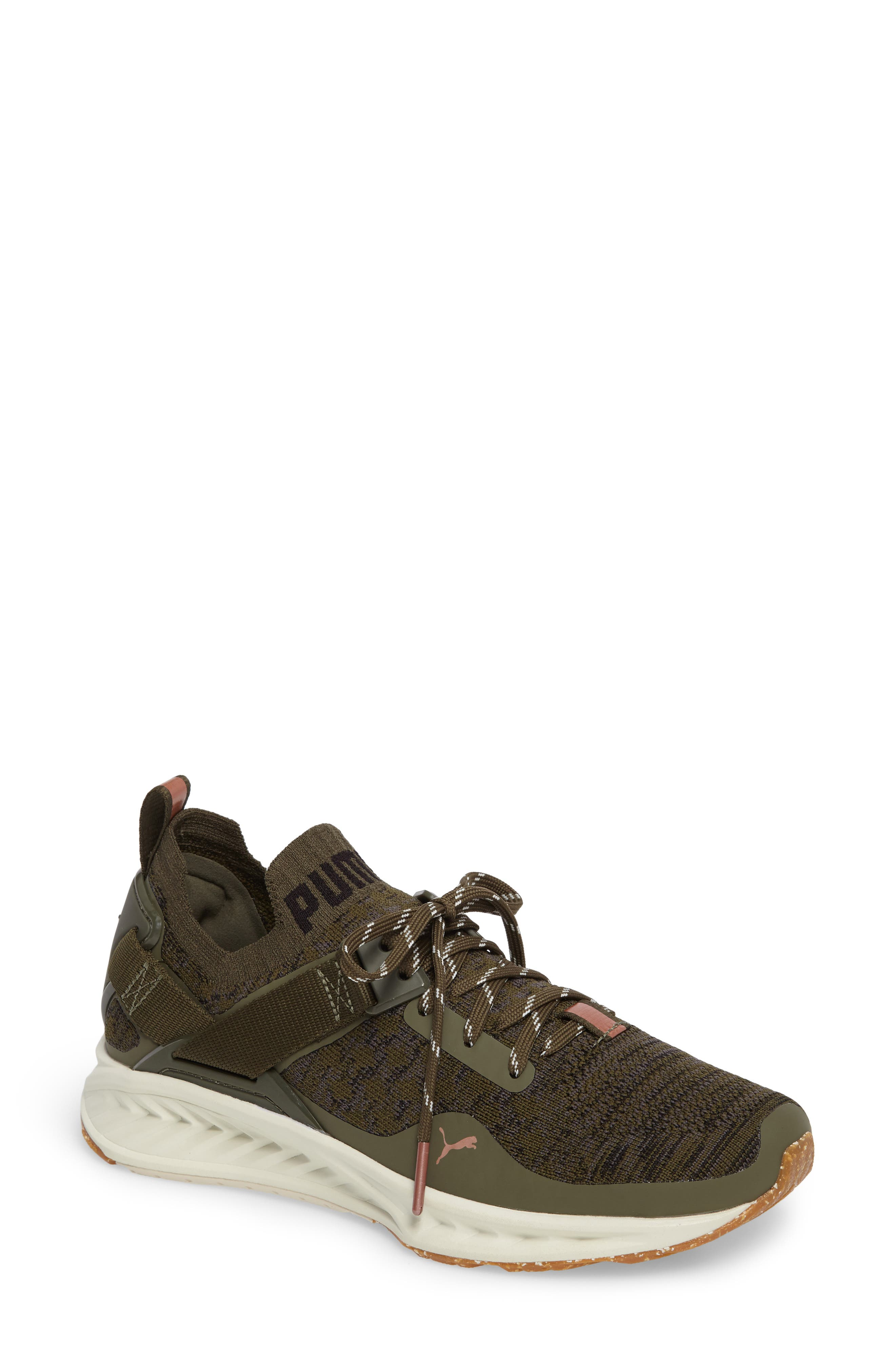 IGNITE evoKNIT Low Sneaker,                             Main thumbnail 1, color,                             Olive/ Black/ Quiet Shade