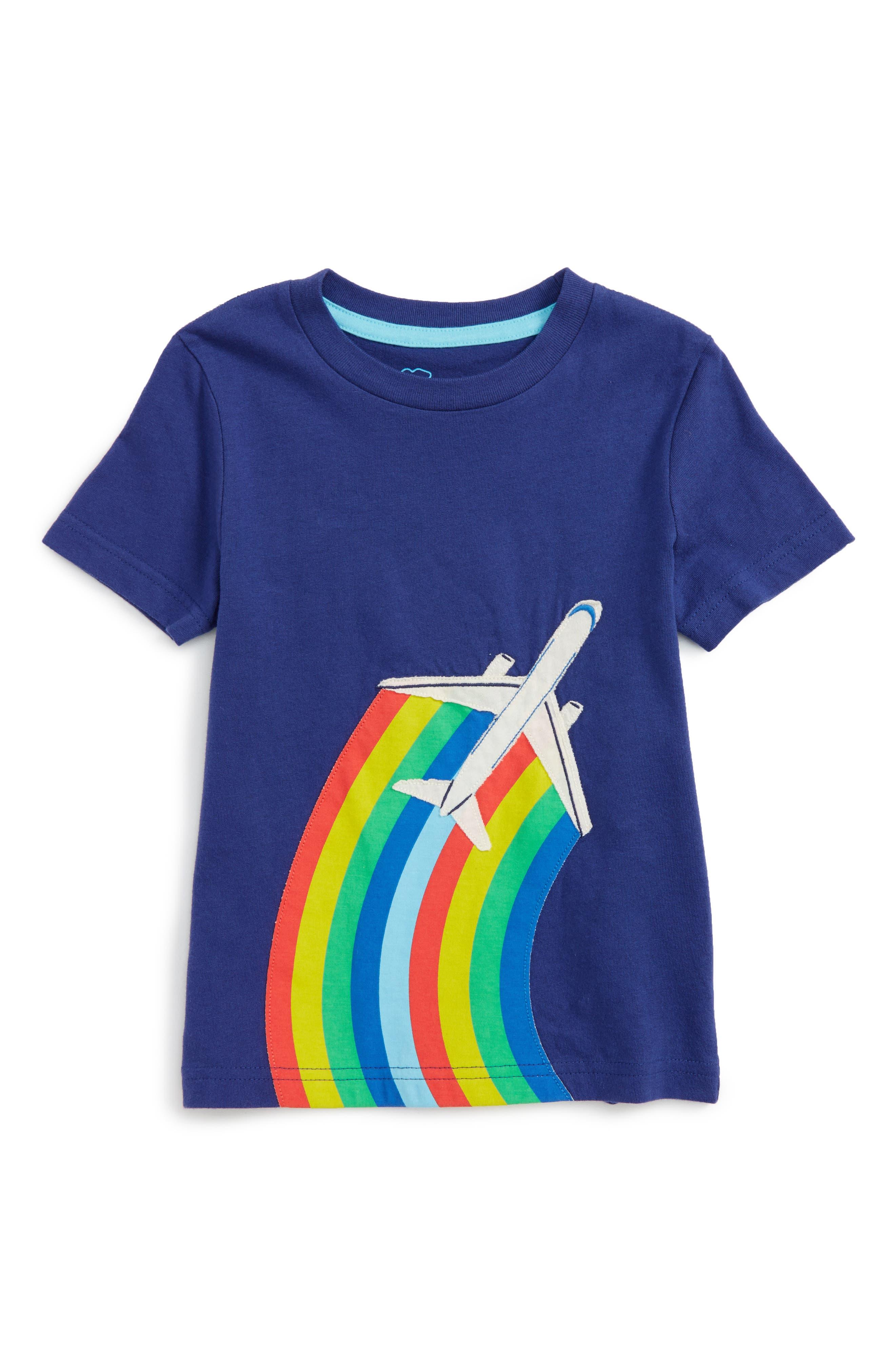 Travel Appliqué T-Shirt,                         Main,                         color, Starboard Blue