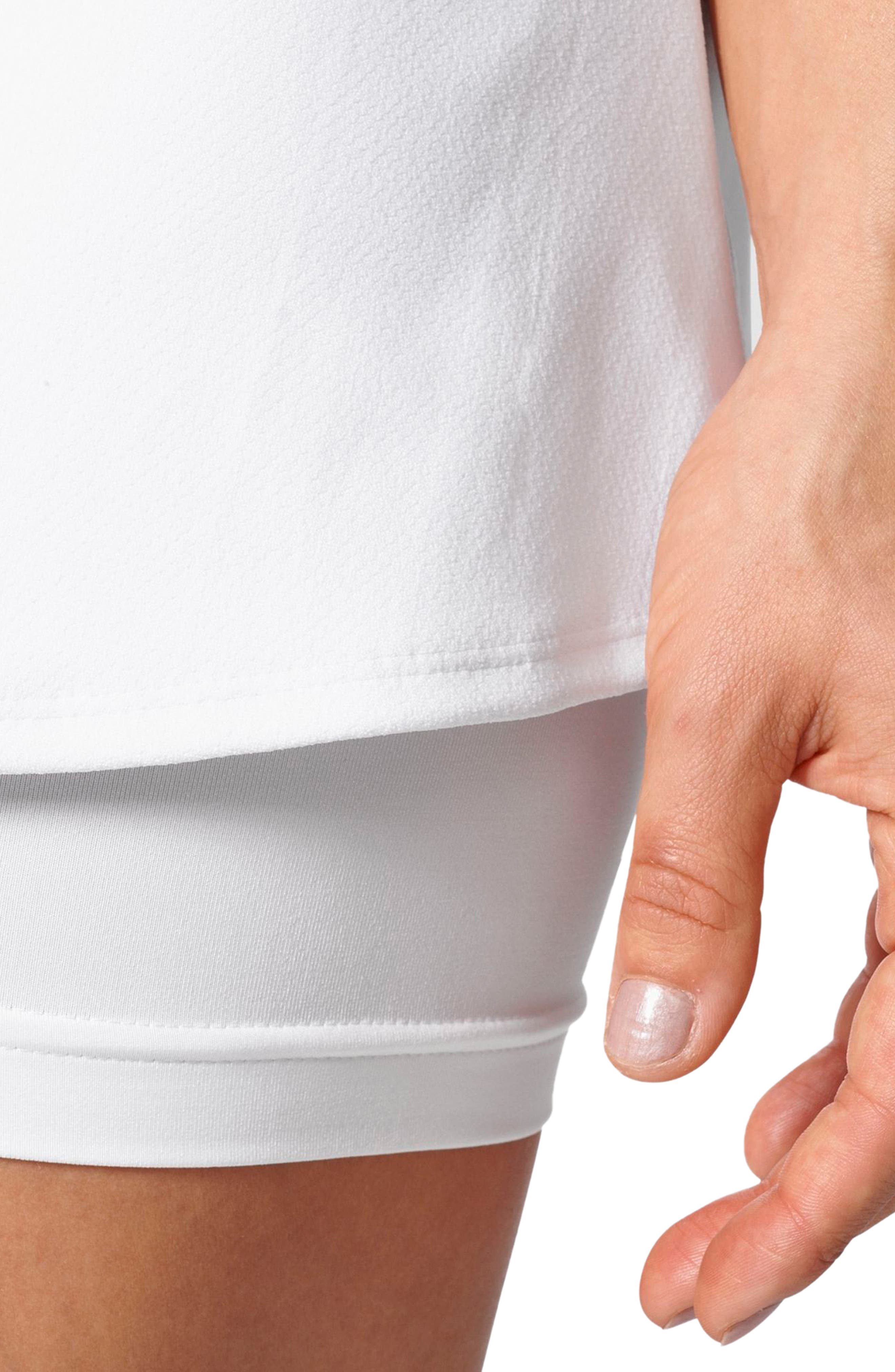 Barricade Climacool<sup>®</sup> Tennis Skirt,                             Alternate thumbnail 4, color,                             White
