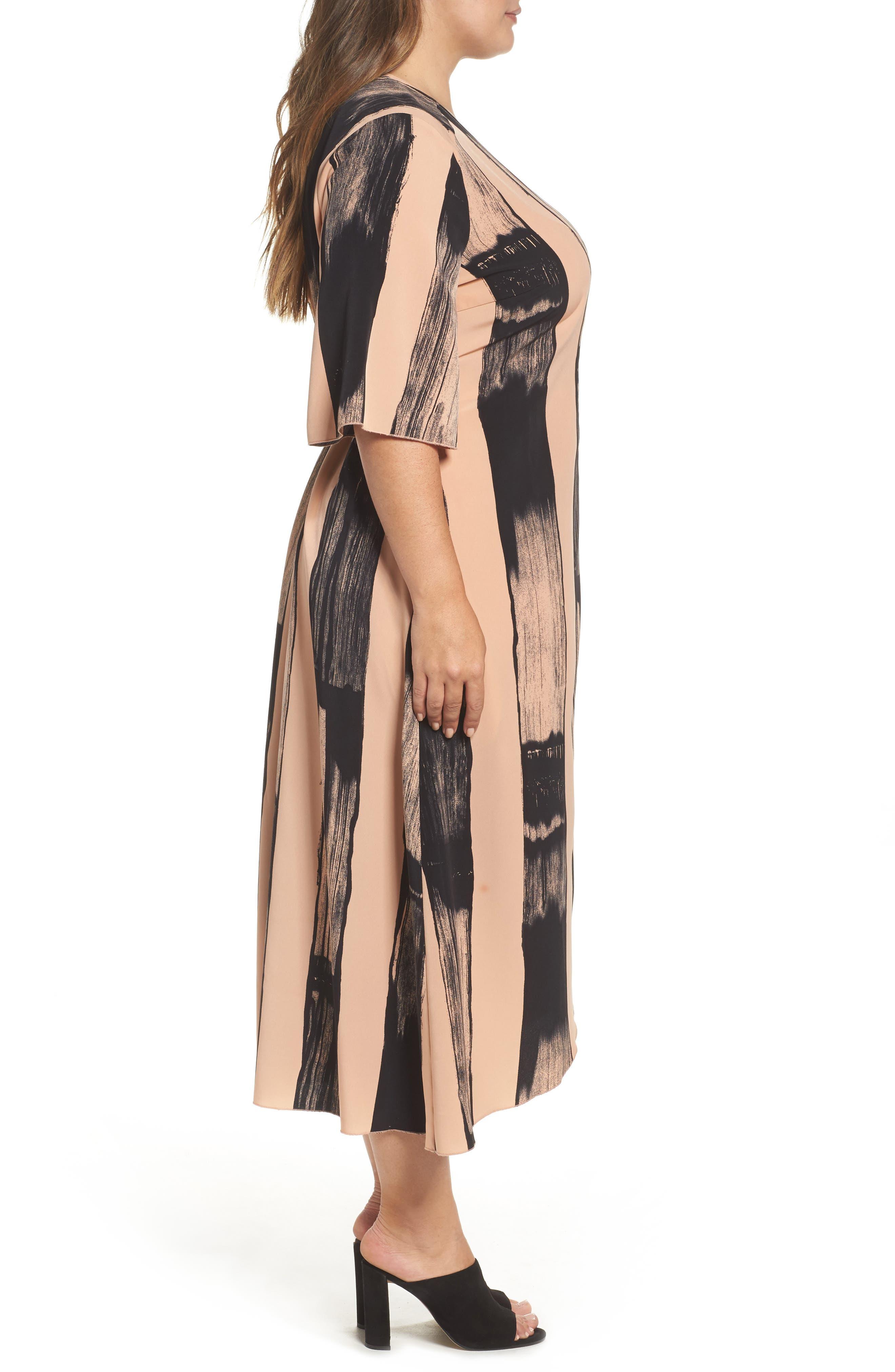 Alternate Image 3  - Melissa McCarthy Seven7 Print Wrap Dress (Plus Size)