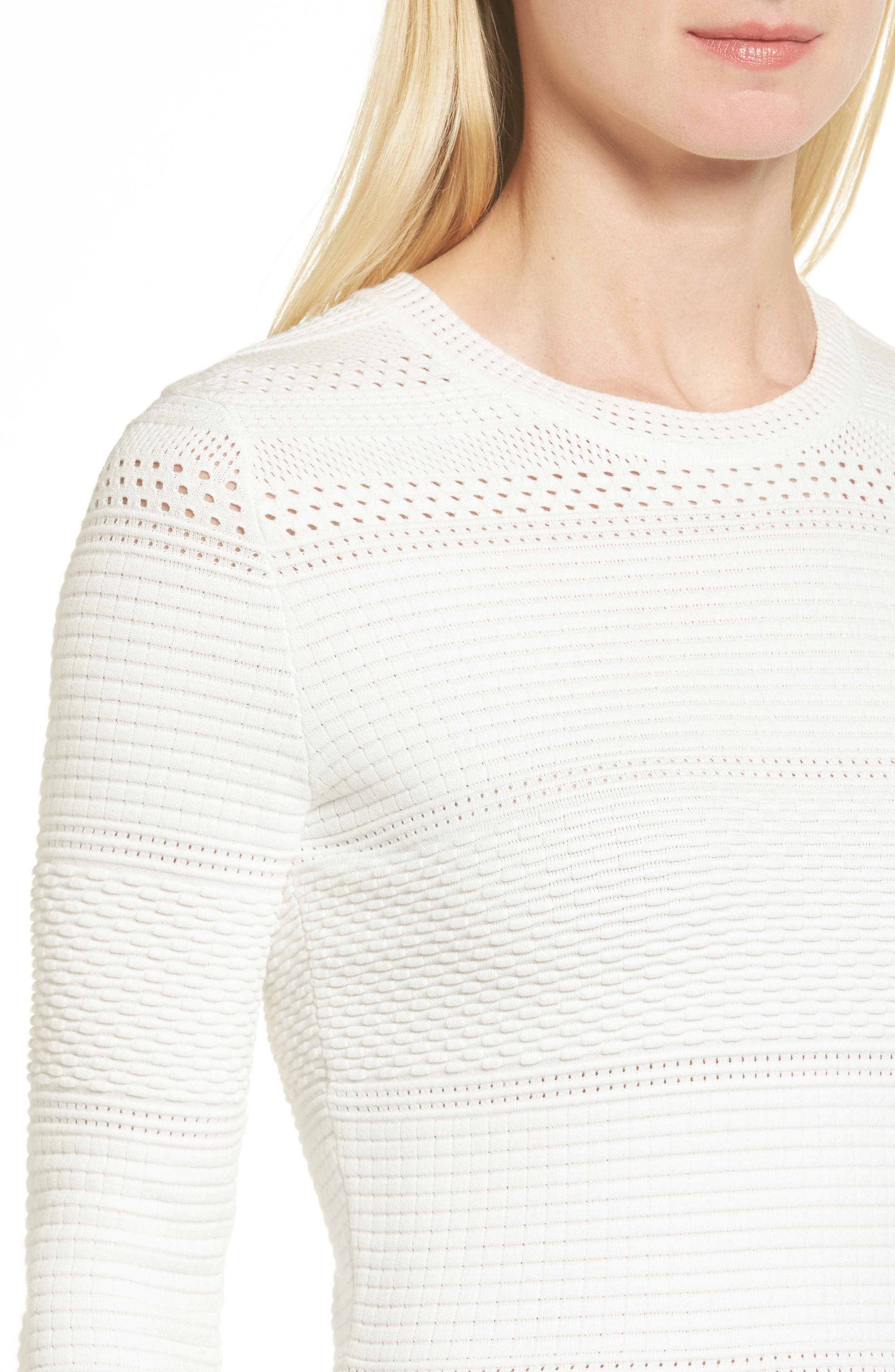 Alternate Image 4  - BOSS Funda Mixed Stitch Sweater