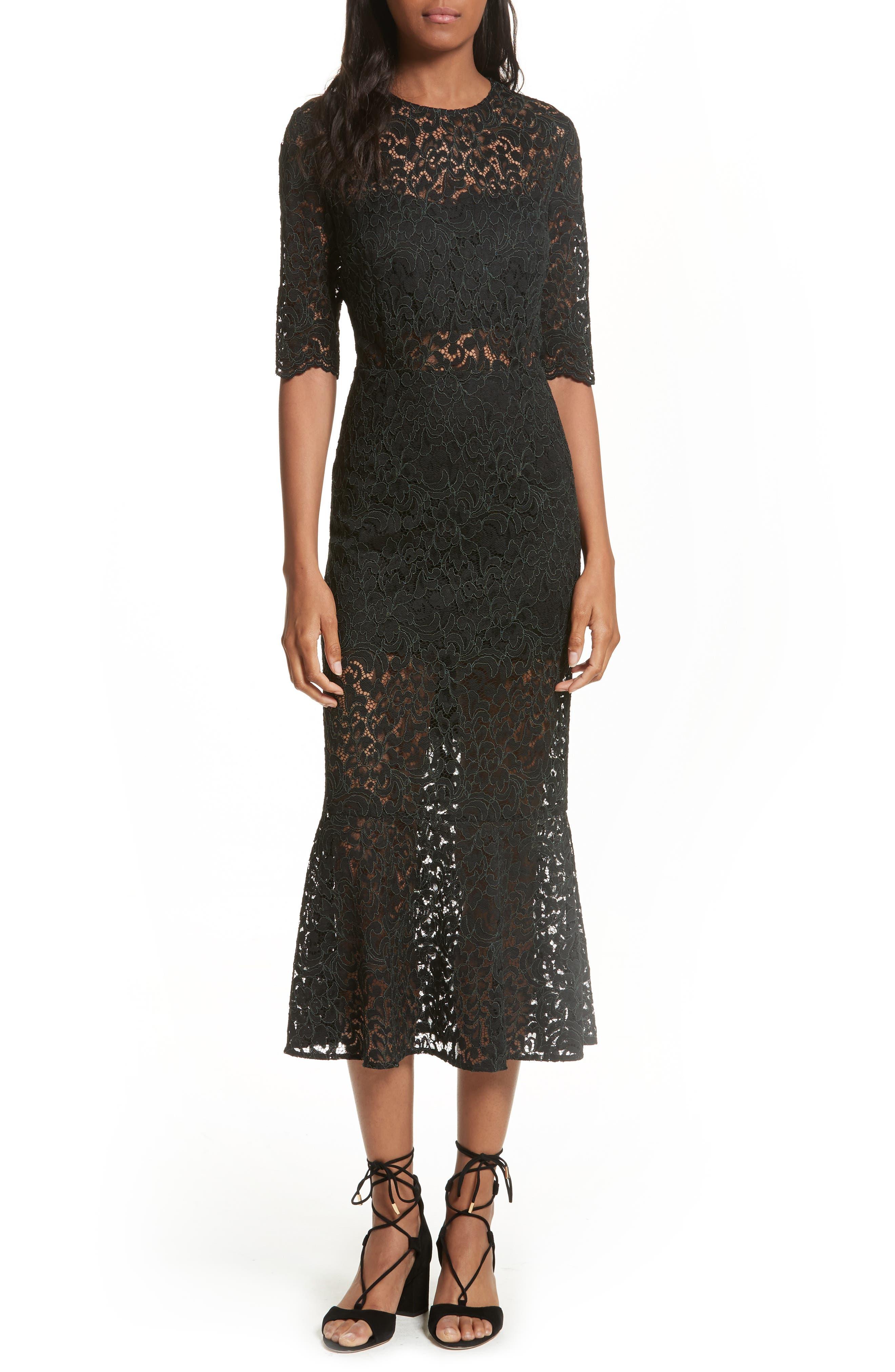 Main Image - Veronica Beard Linden Lace Midi Dress