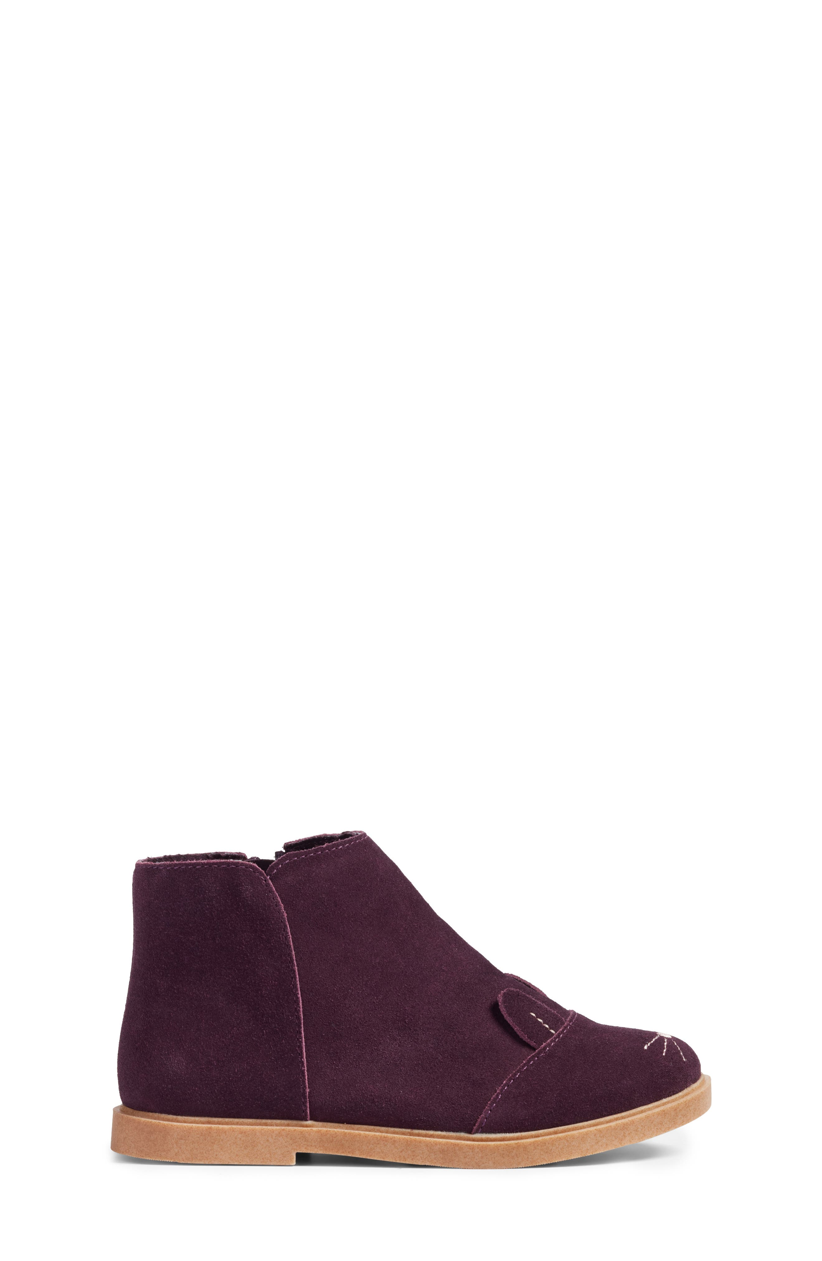 Bunny Boot,                             Alternate thumbnail 3, color,                             Berry Leather