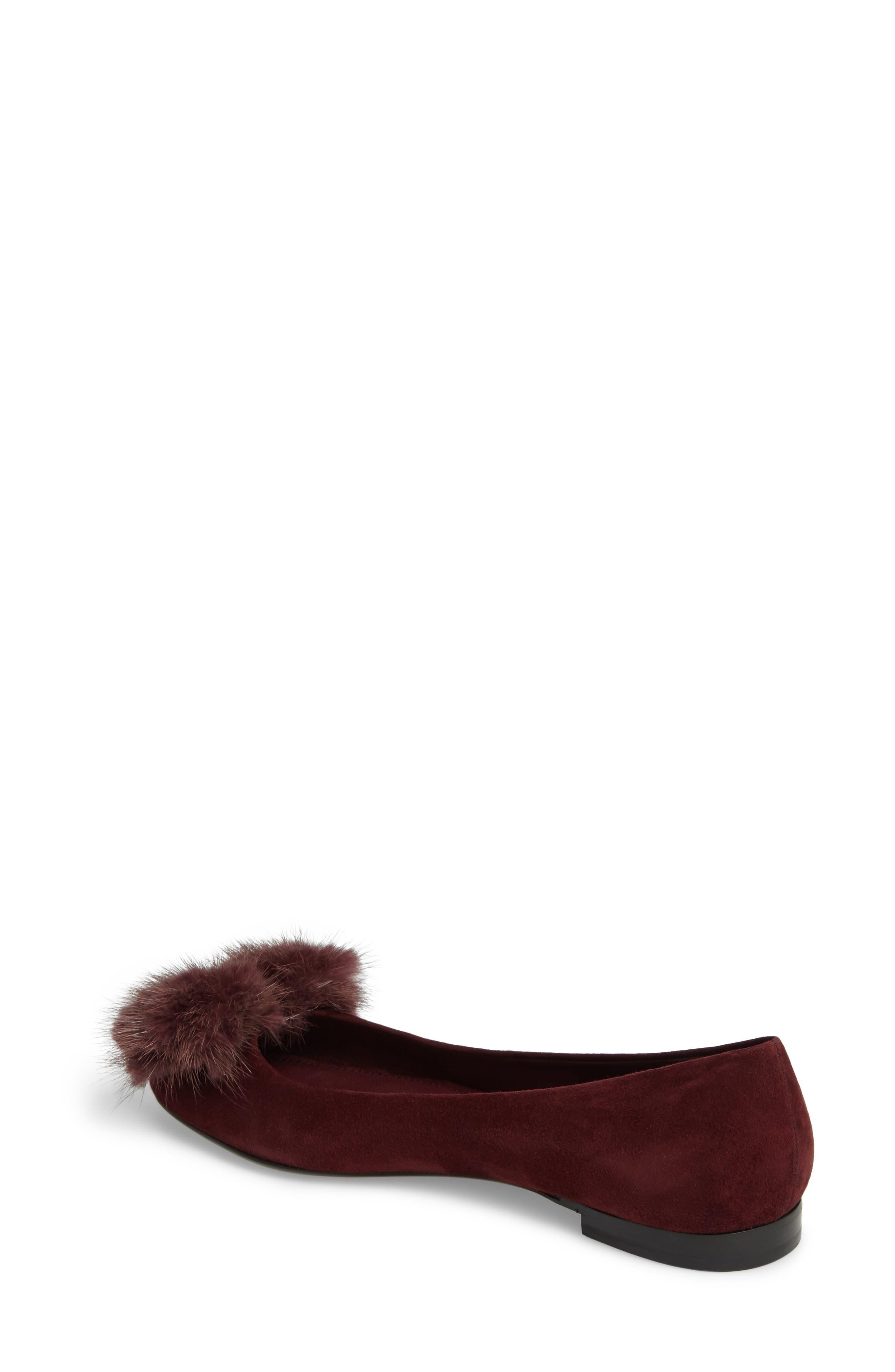 Alternate Image 2  - Salvatore Ferragamo Genuine Mink Fur Flat (Women)