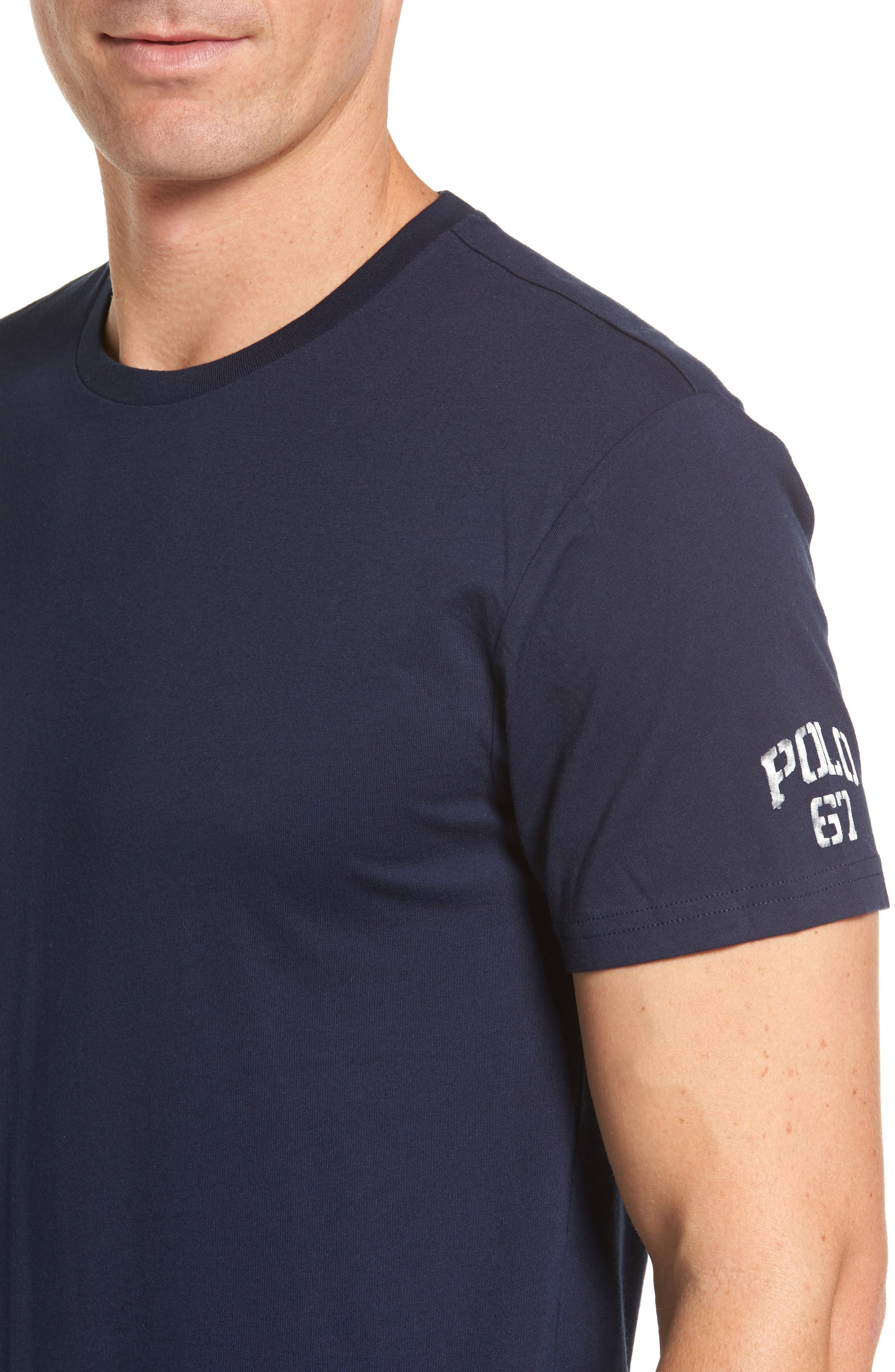 Crewneck T-Shirt,                             Alternate thumbnail 4, color,                             Cruise Navy