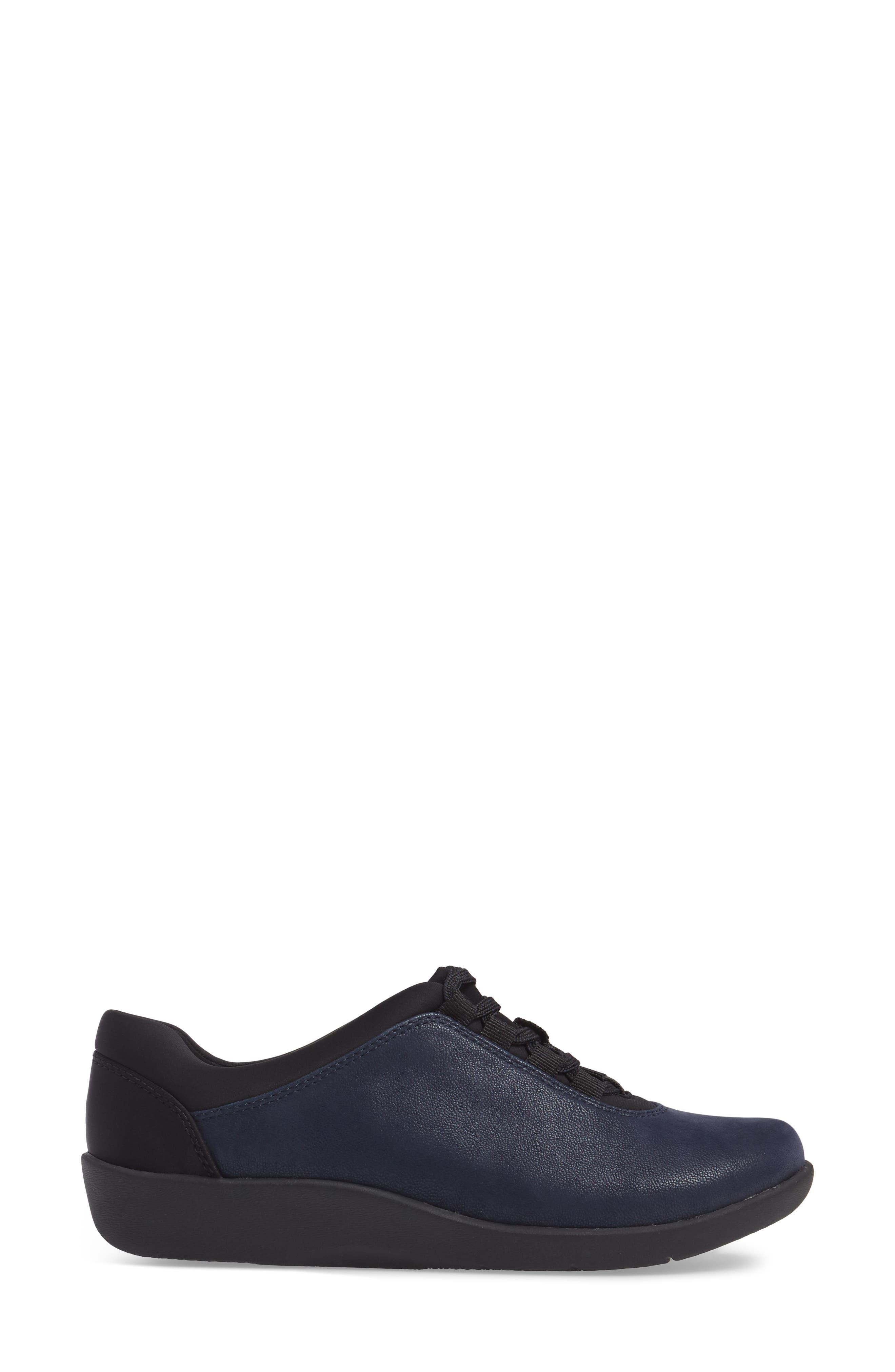 Sillian Pine Sneaker,                             Alternate thumbnail 3, color,                             Navy Canvas