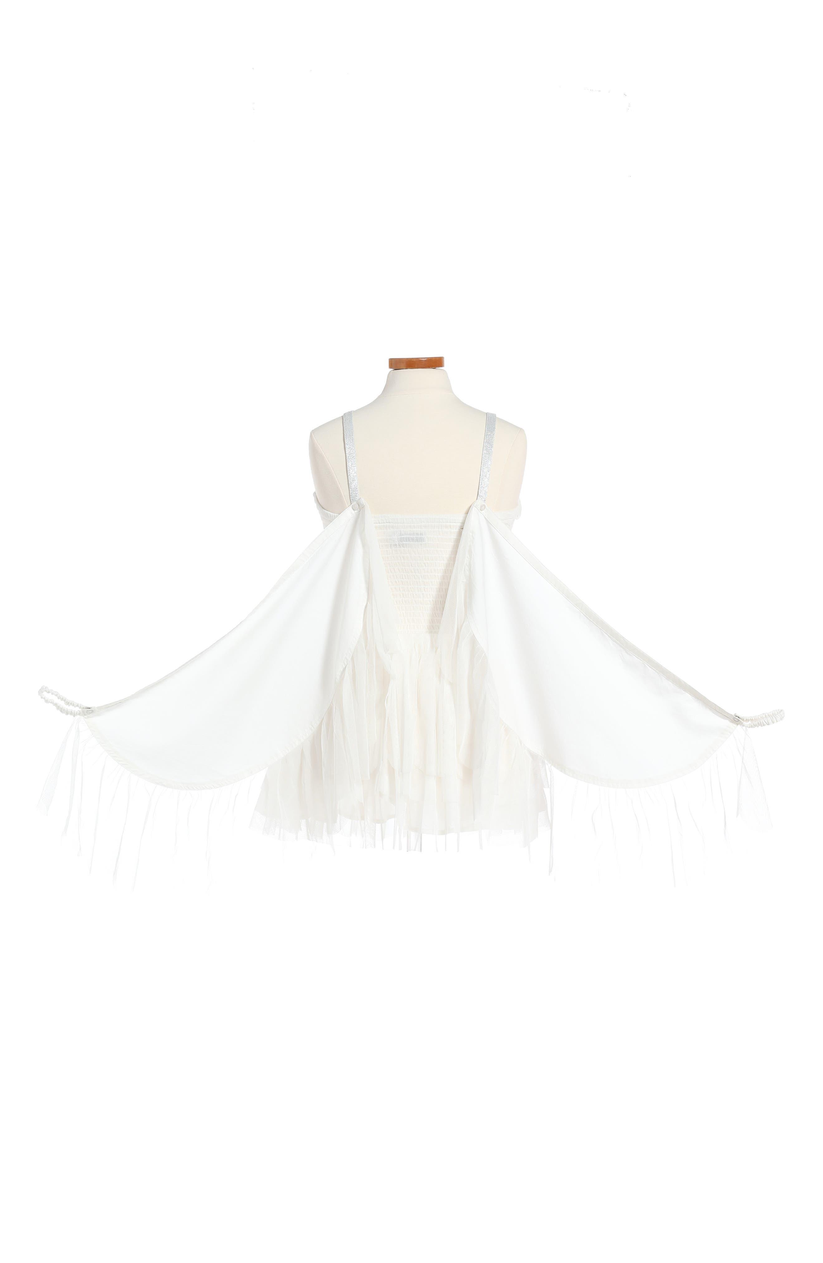 Alternate Image 2  - Stella McCartney Kids Bonny Winged Swan Tulle Dress (Big Girl)