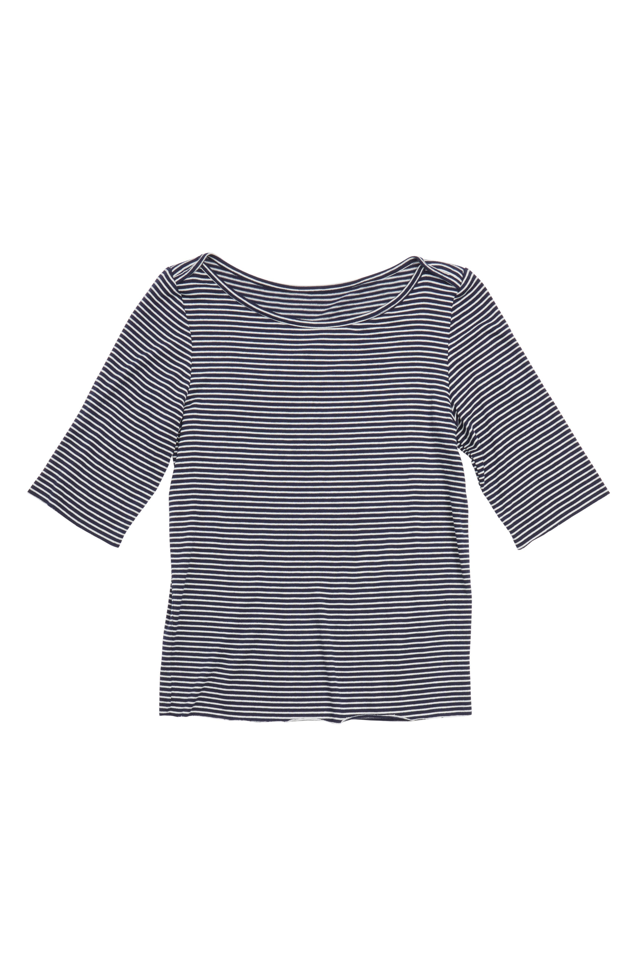 Alternate Image 1 Selected - Treasure & Bond Stripe Tee (Big Girls)