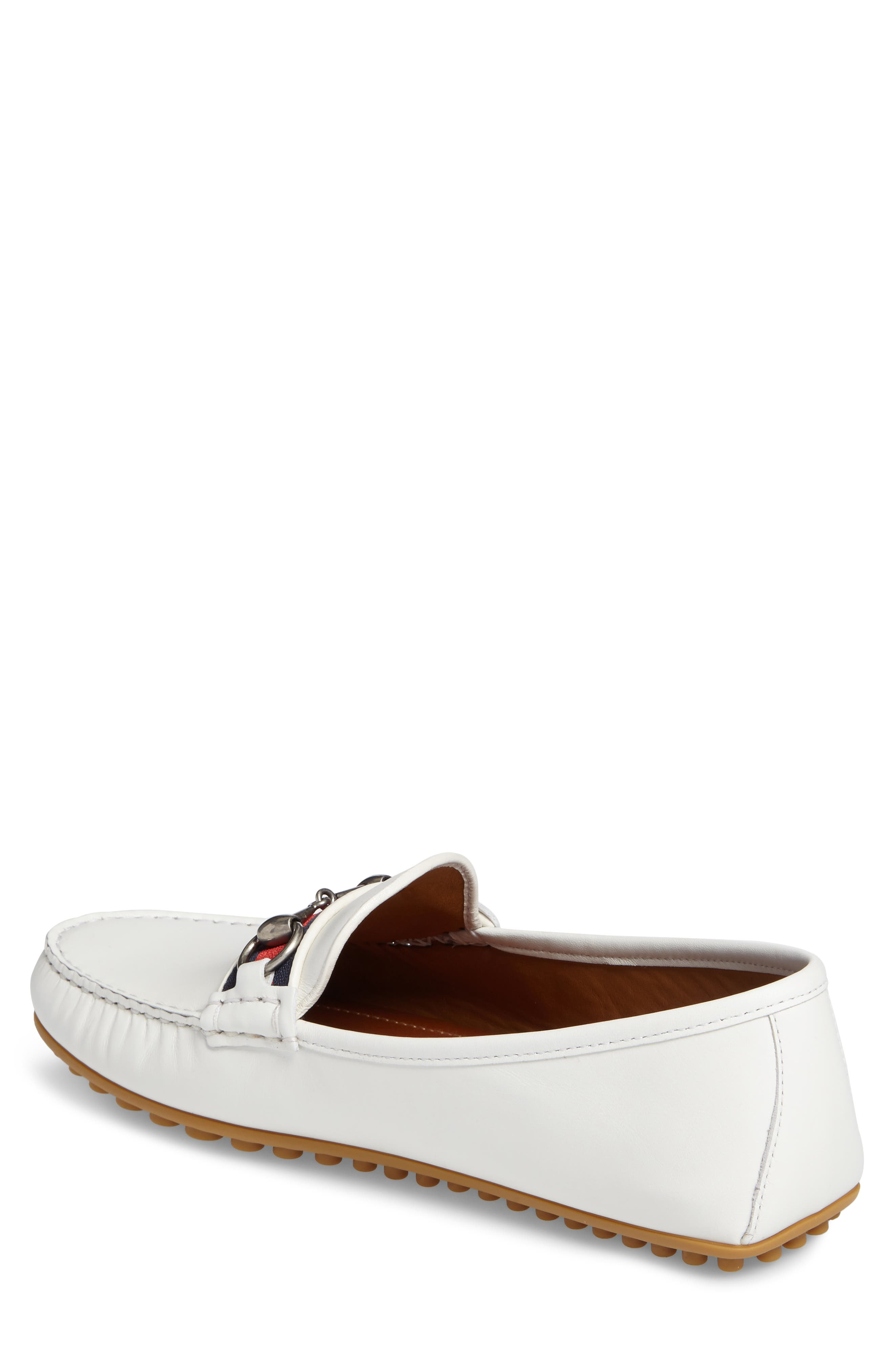 Kanye Bit Loafer,                             Alternate thumbnail 2, color,                             White Leather