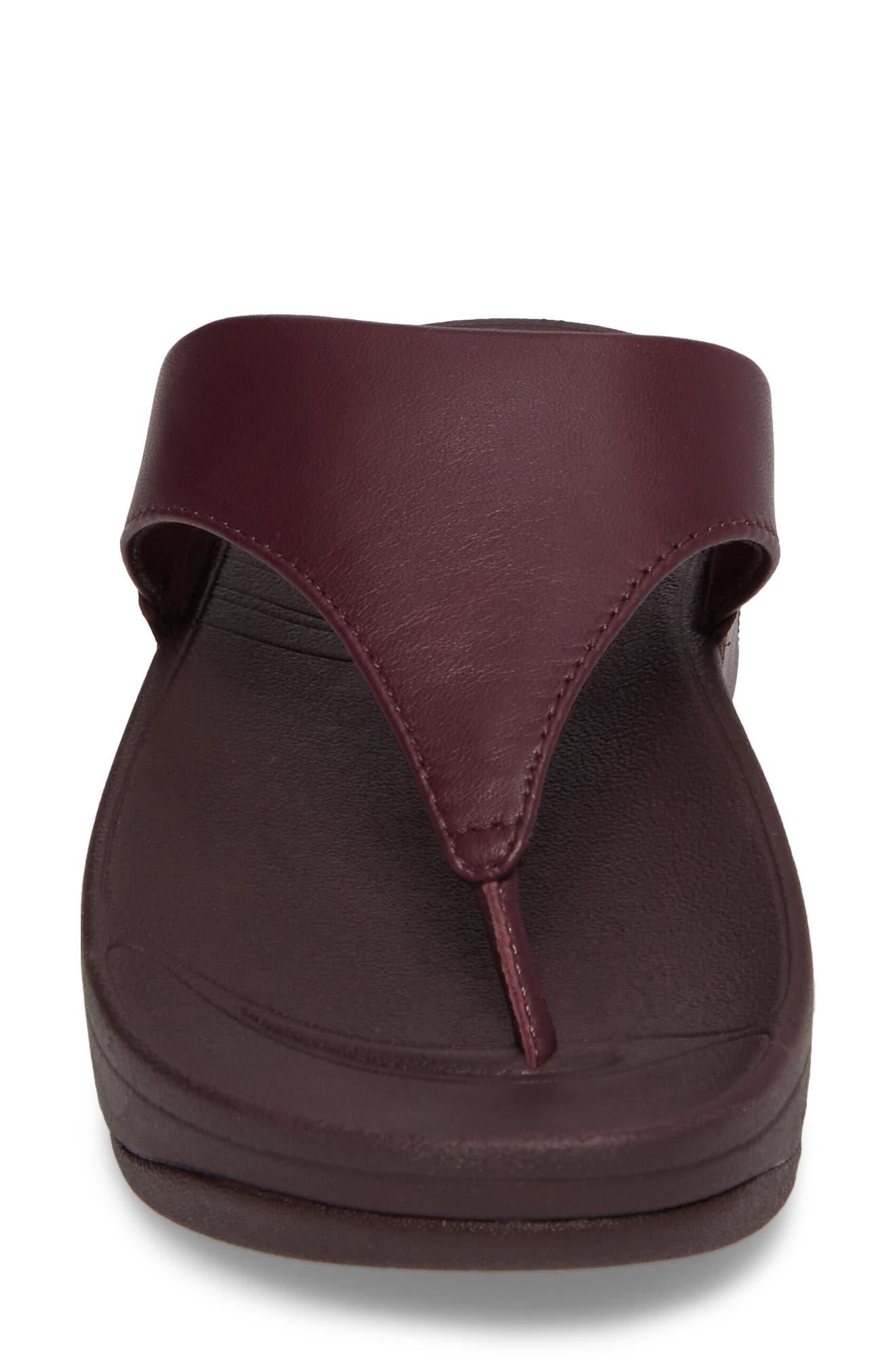 Lulu Sandal,                             Alternate thumbnail 4, color,                             Deep Plum Leather