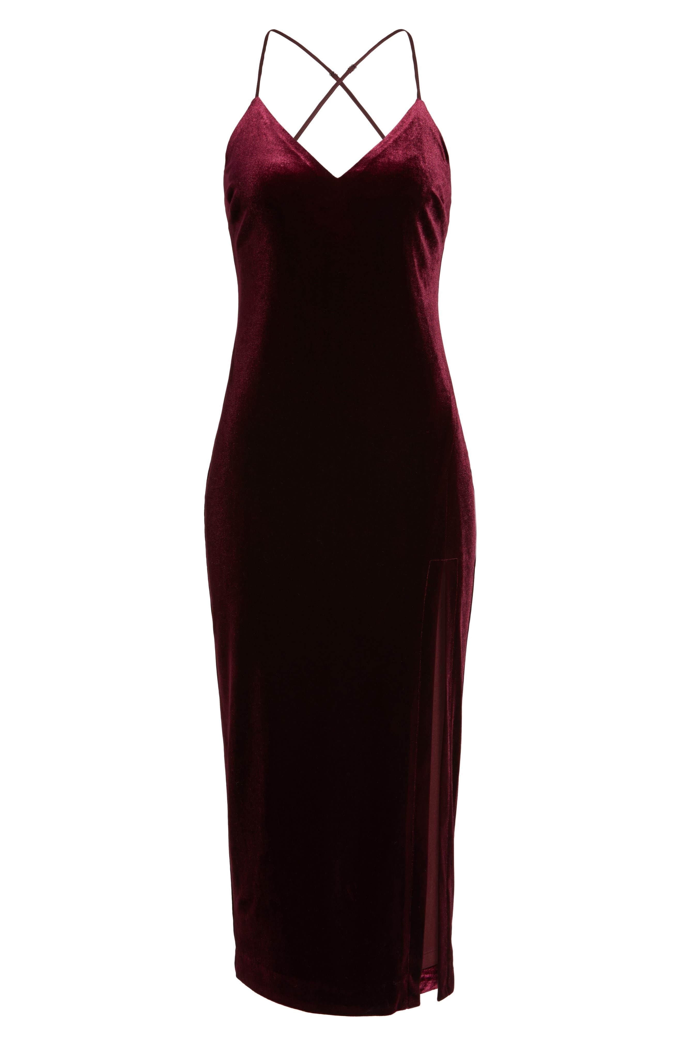 Alternate Image 6  - Bardot Raven Velvet Slipdress