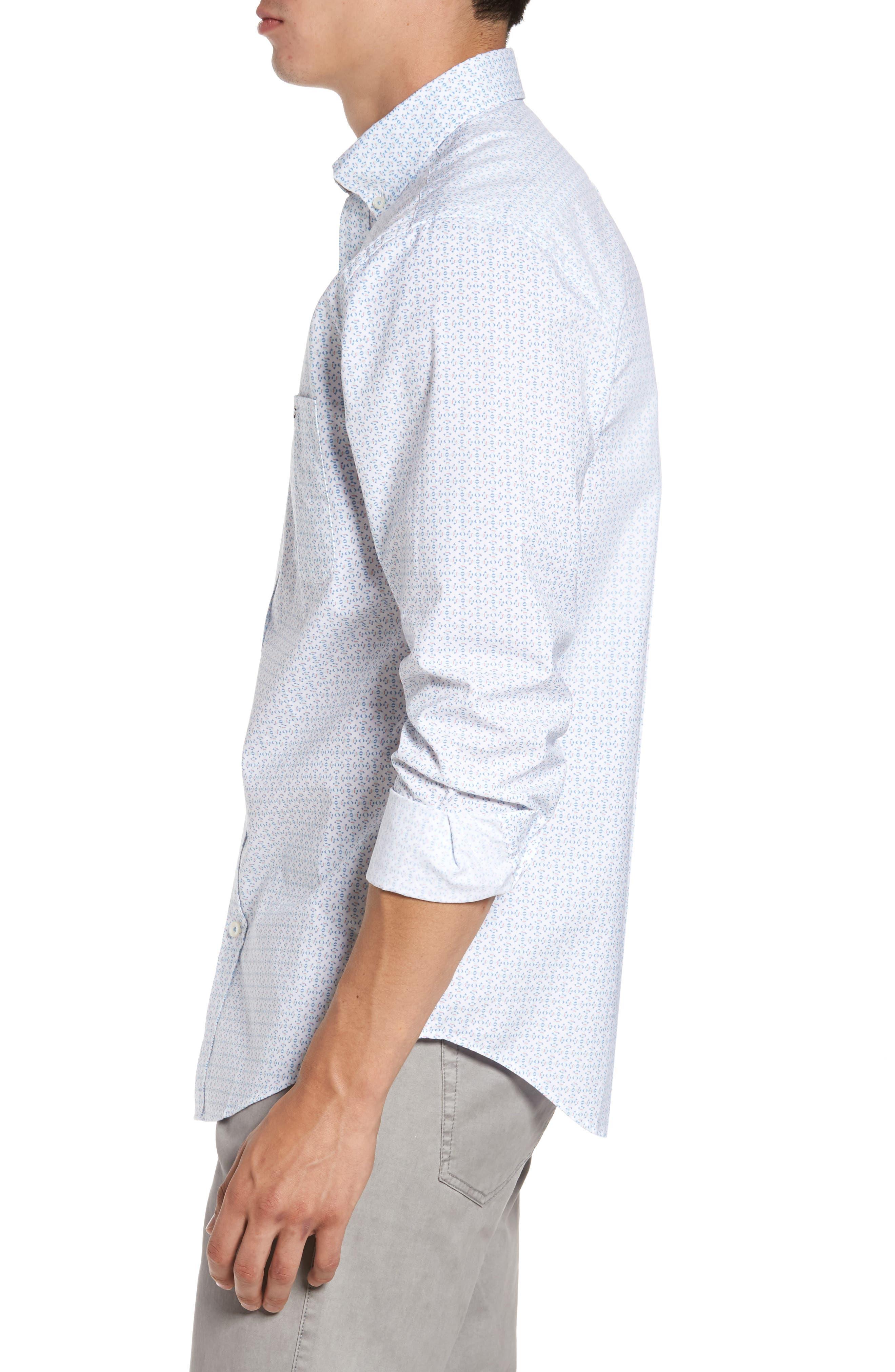 Alternate Image 3  - vineyard vines Fish Check Tucker Slim Fit Sport Shirt