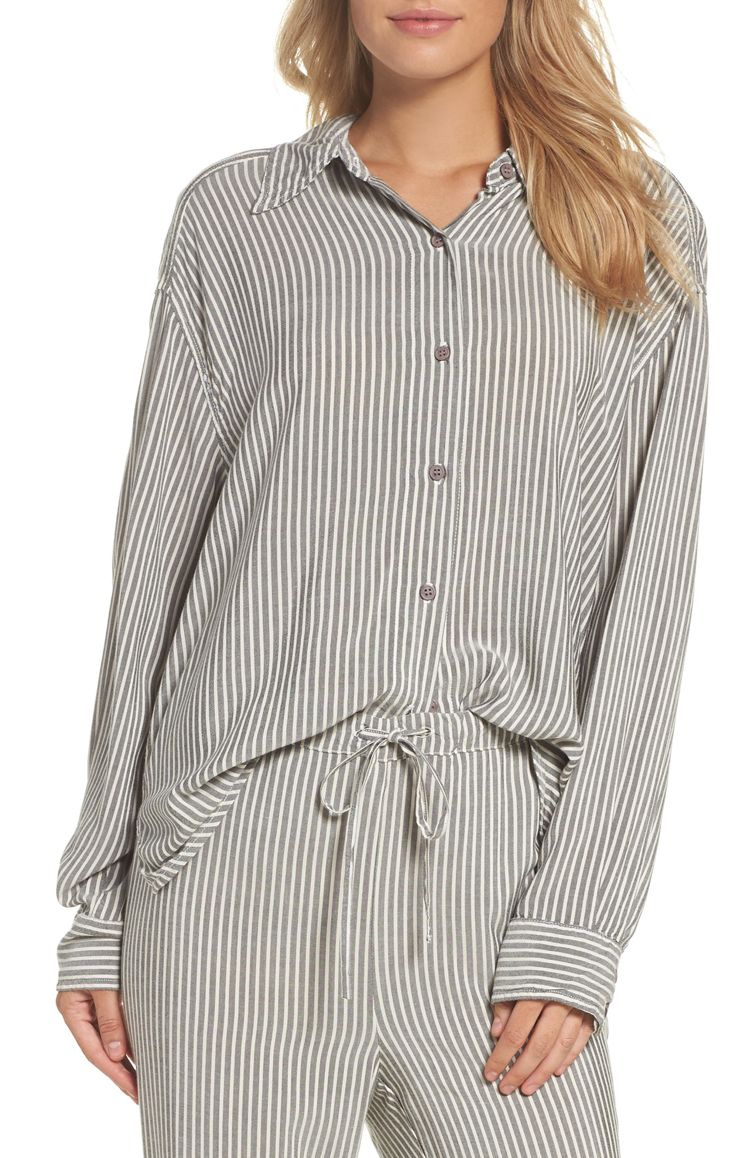 Stripe Top,                             Main thumbnail 1, color,                             Grey Stripe