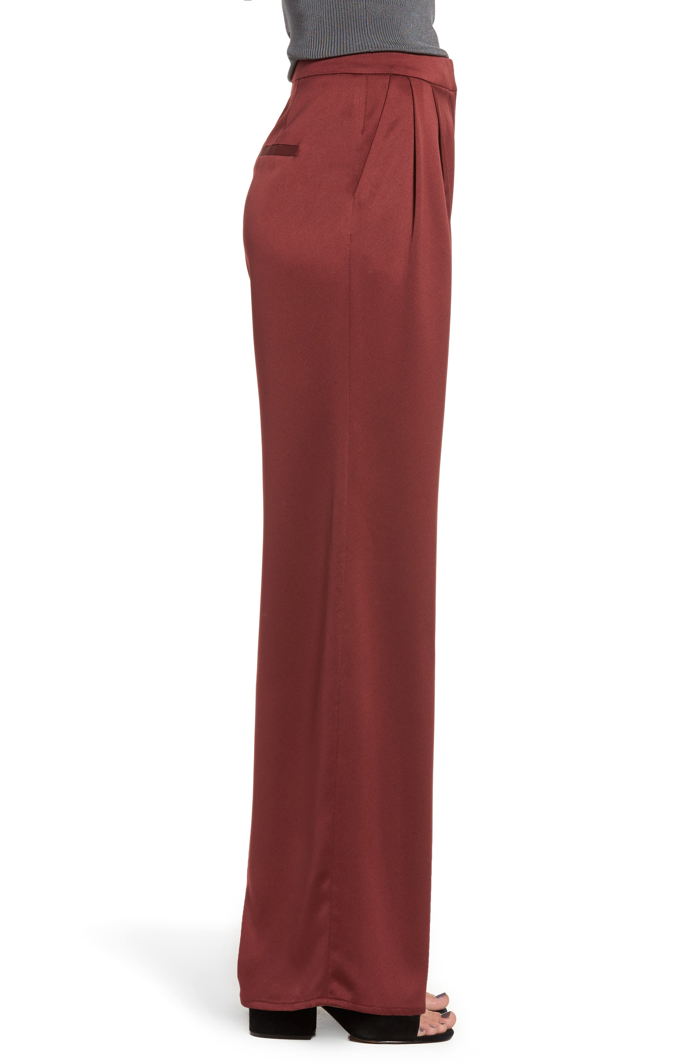Alternate Image 3  - Leith Wide Leg Satin Trousers