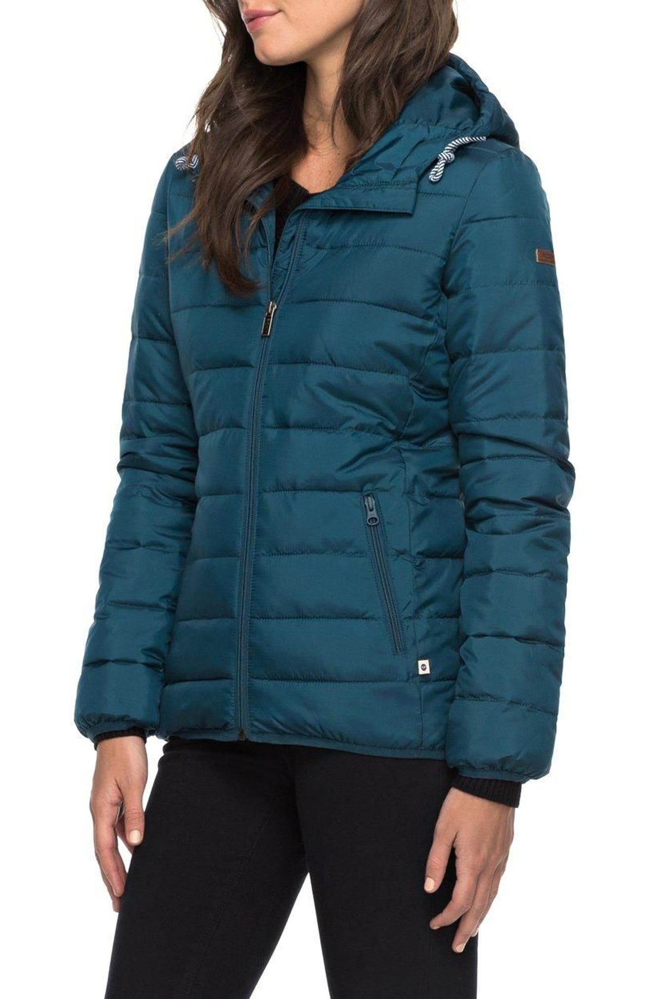 Forever Freely Puffer Jacket,                             Alternate thumbnail 4, color,                             Reflecting Pond