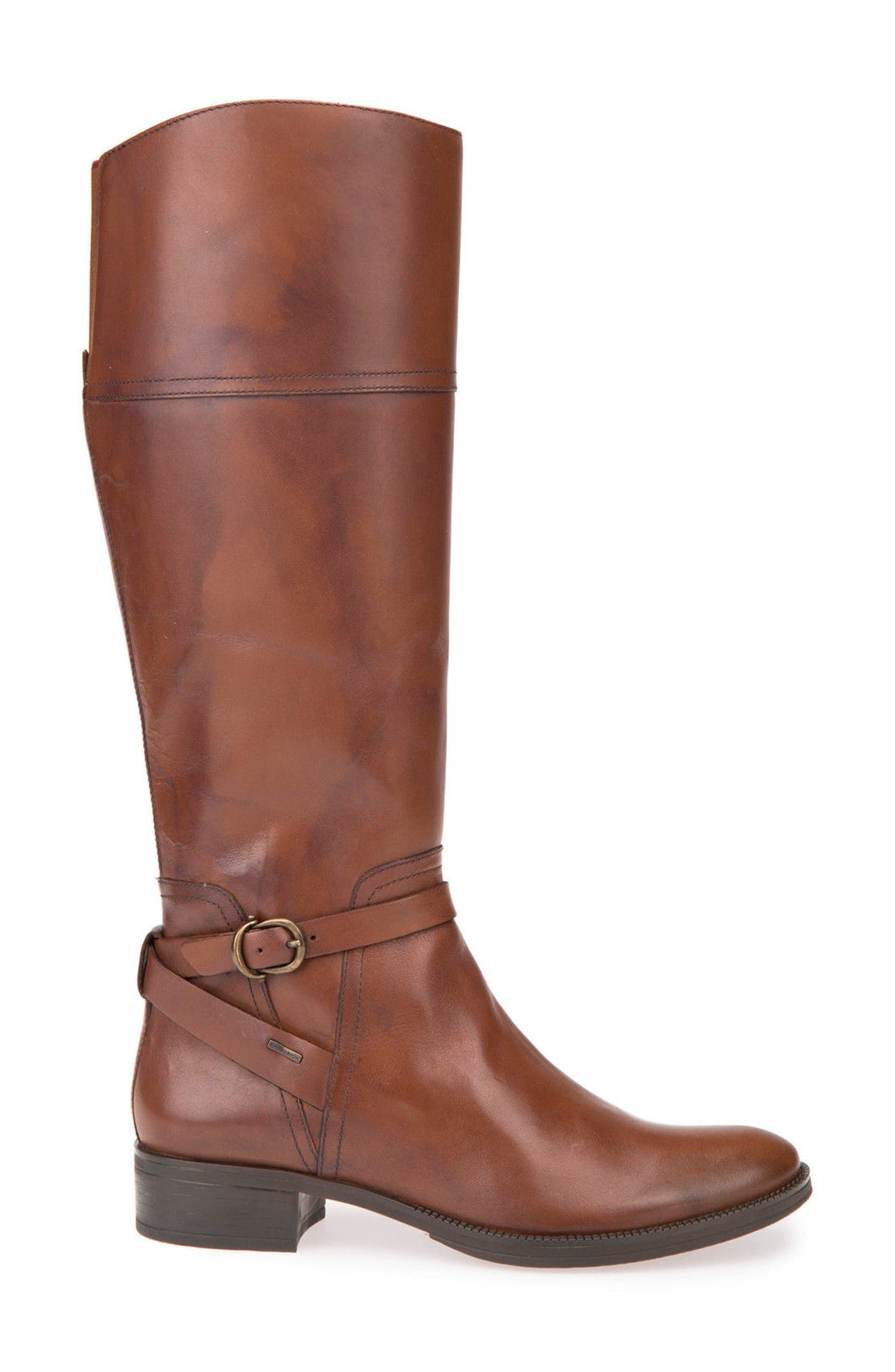 Mendin ABX Waterproof Riding Boot,                             Alternate thumbnail 3, color,                             Brown Leather