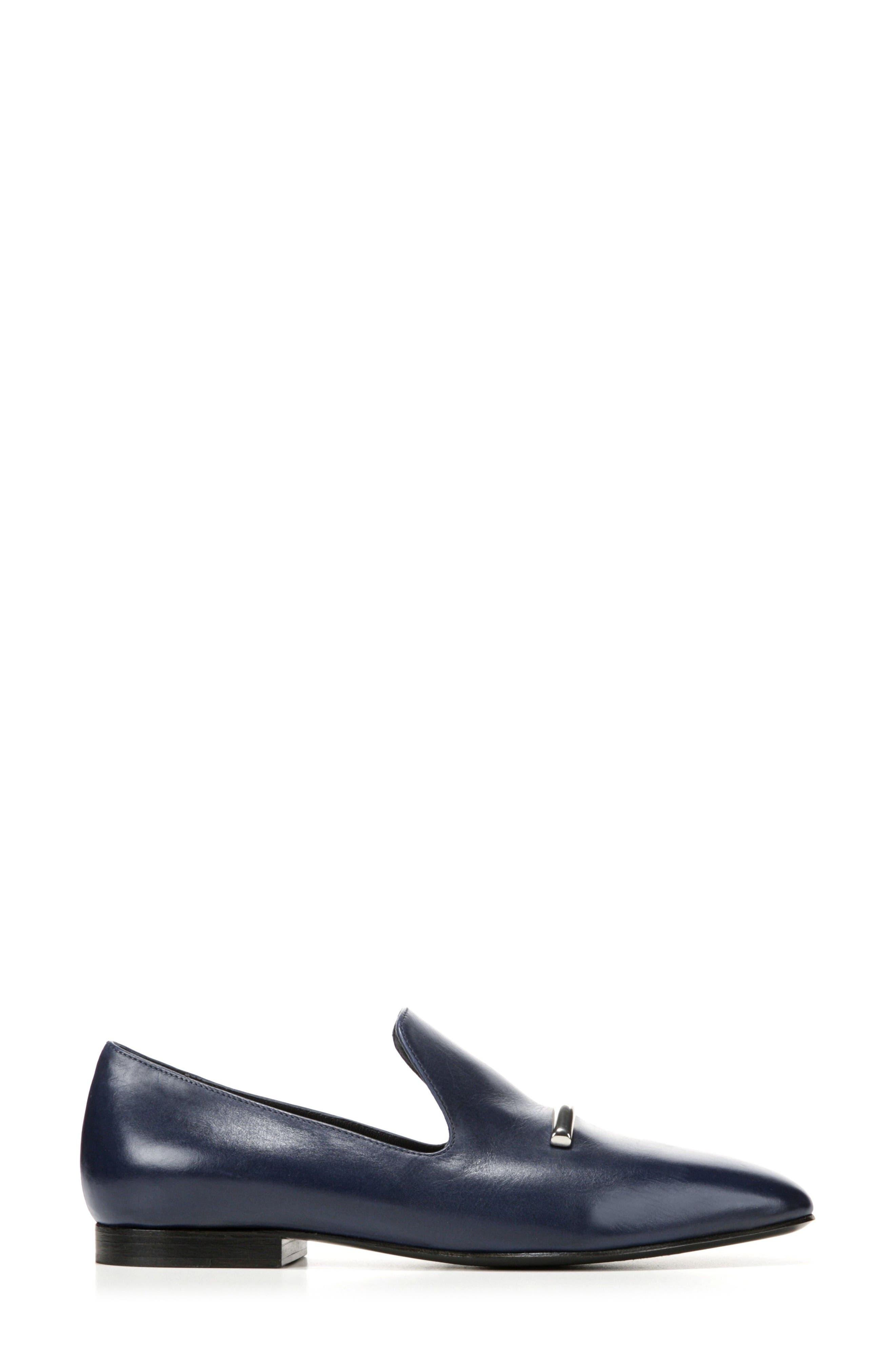 Tallis Flat Loafer,                             Alternate thumbnail 3, color,                             Midnight Leather