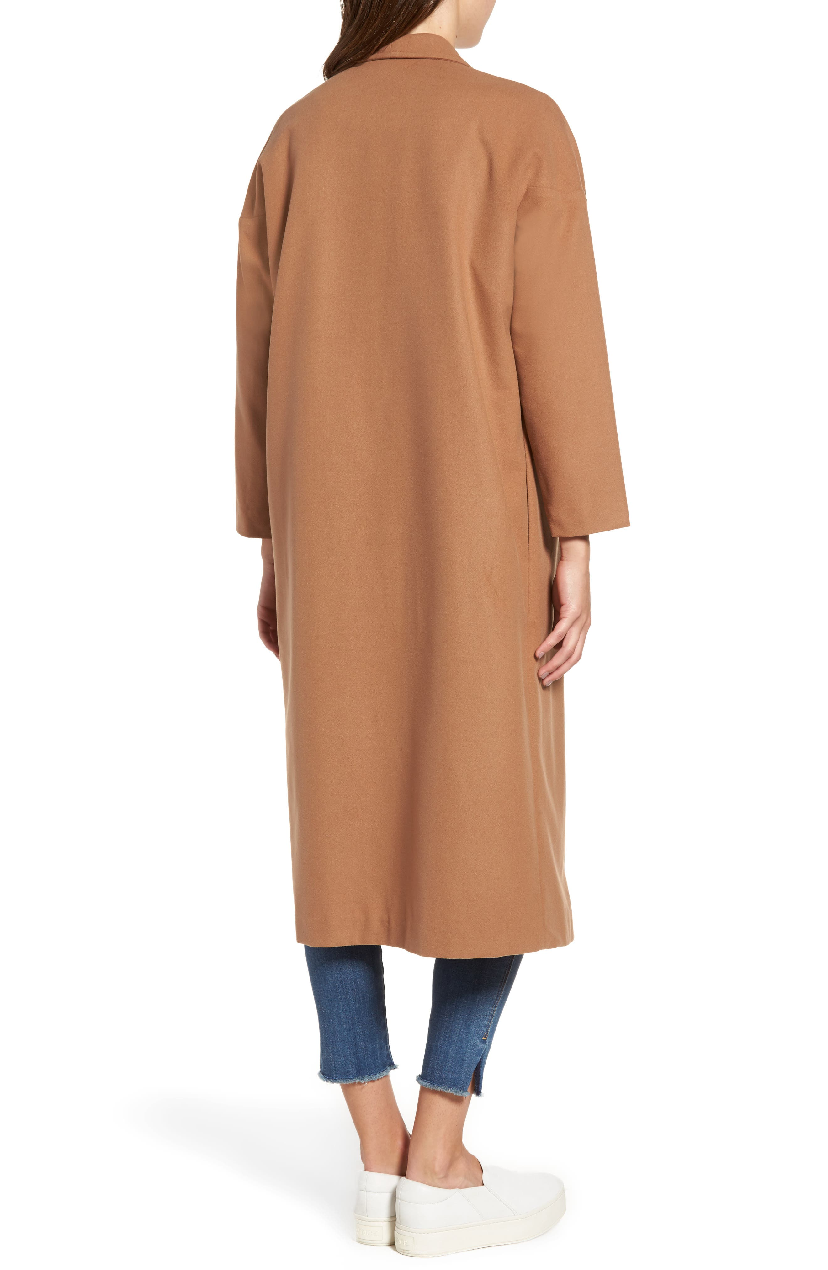 Perfect Midi Coat,                             Alternate thumbnail 4, color,                             Camel