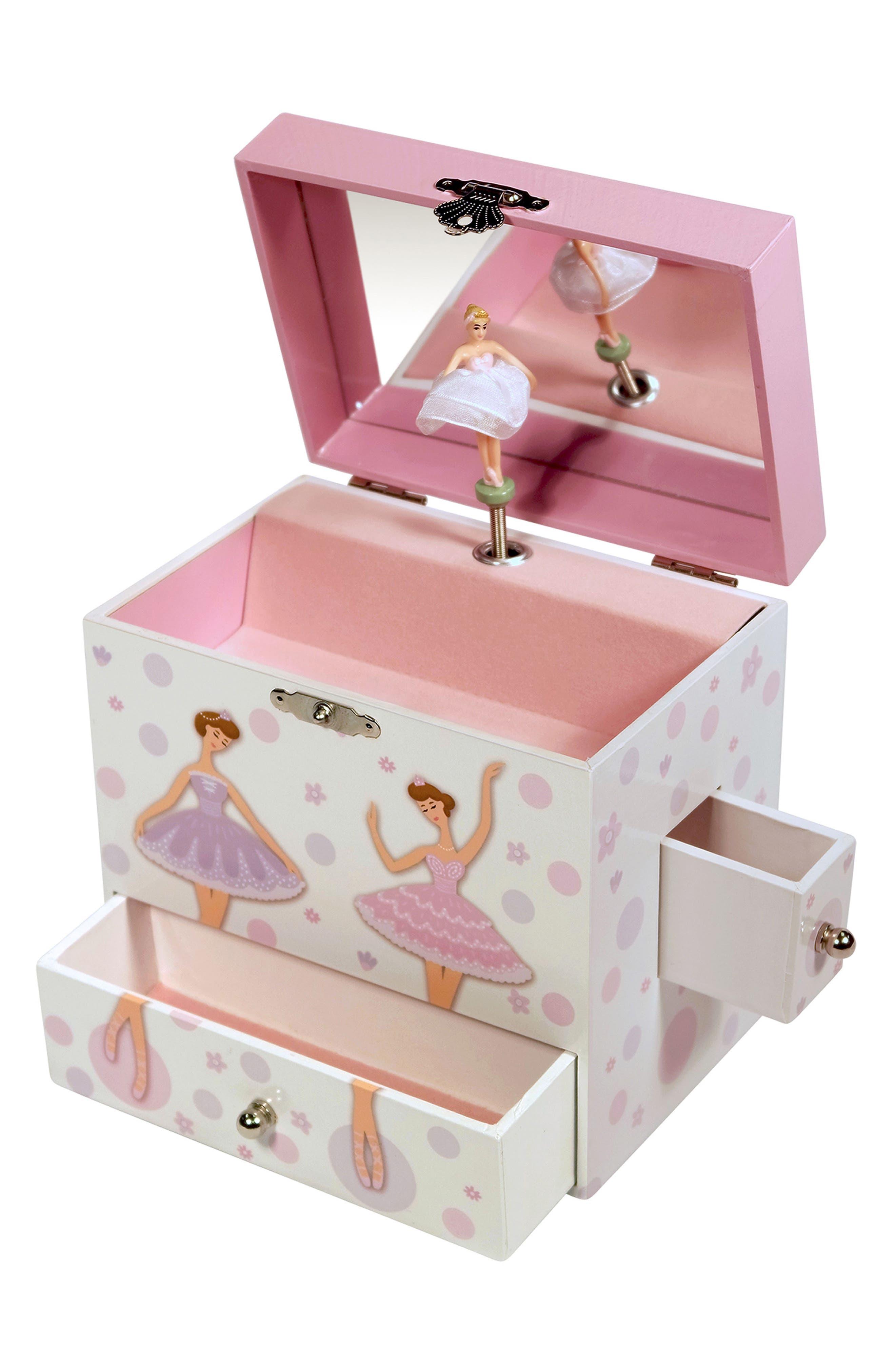 Jolie Musical Jewelry Box,                             Alternate thumbnail 2, color,                             White